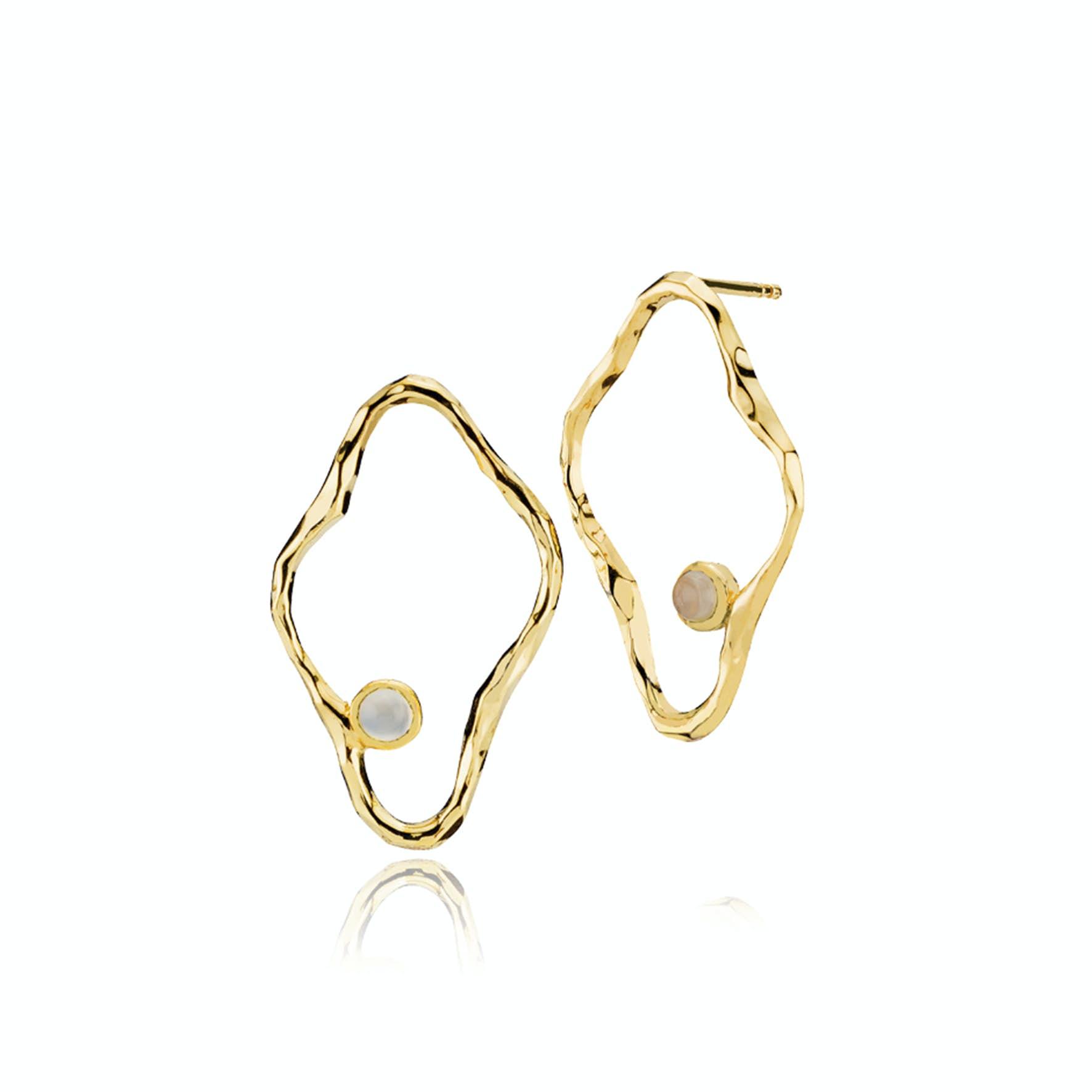 Melissa Bentsen Medium Earrings från Sistie i Förgyllt-Silver Sterling 925
