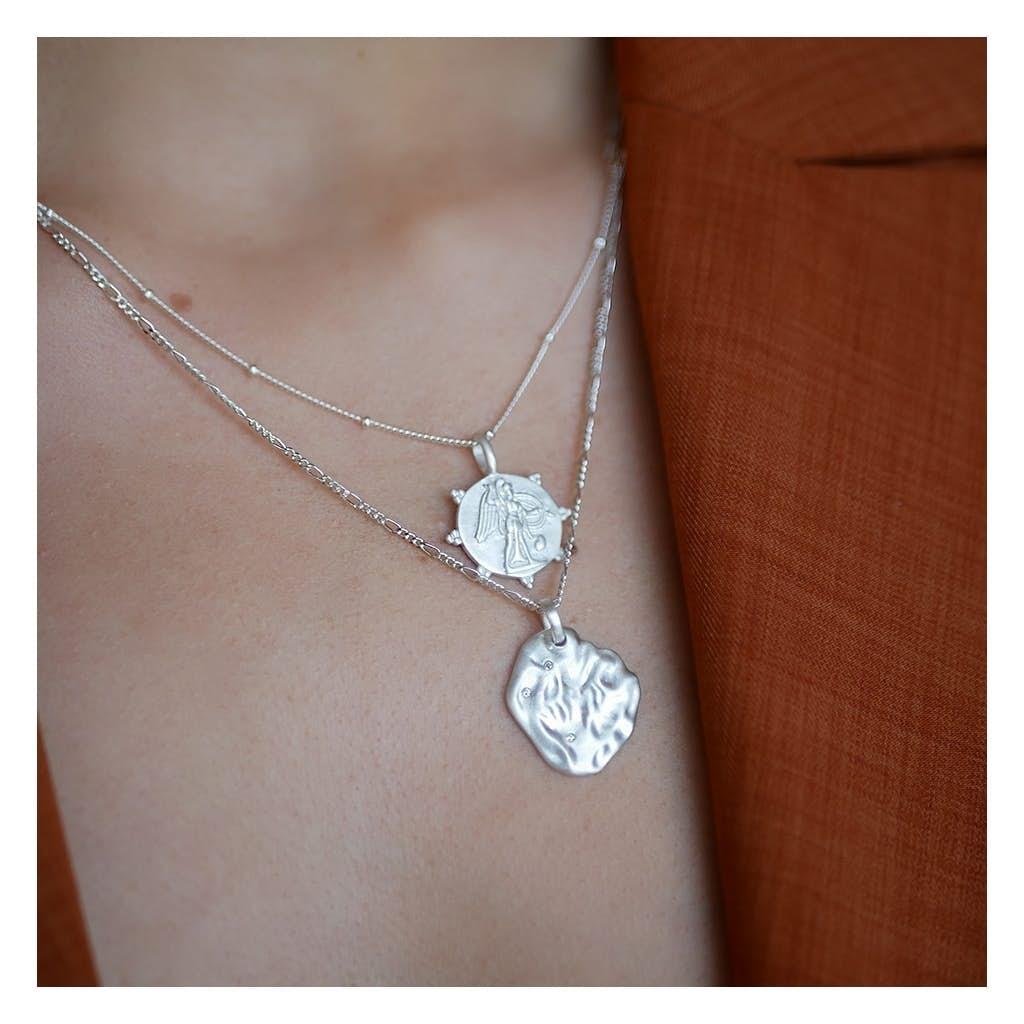 Angel necklace von Enamel Copenhagen in Vergoldet-Silber Sterling 925