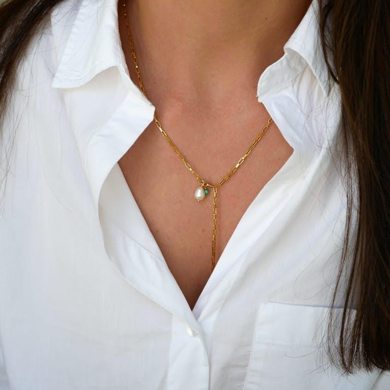 Azra necklace från Enamel Copenhagen i Silver Sterling 925|Blank