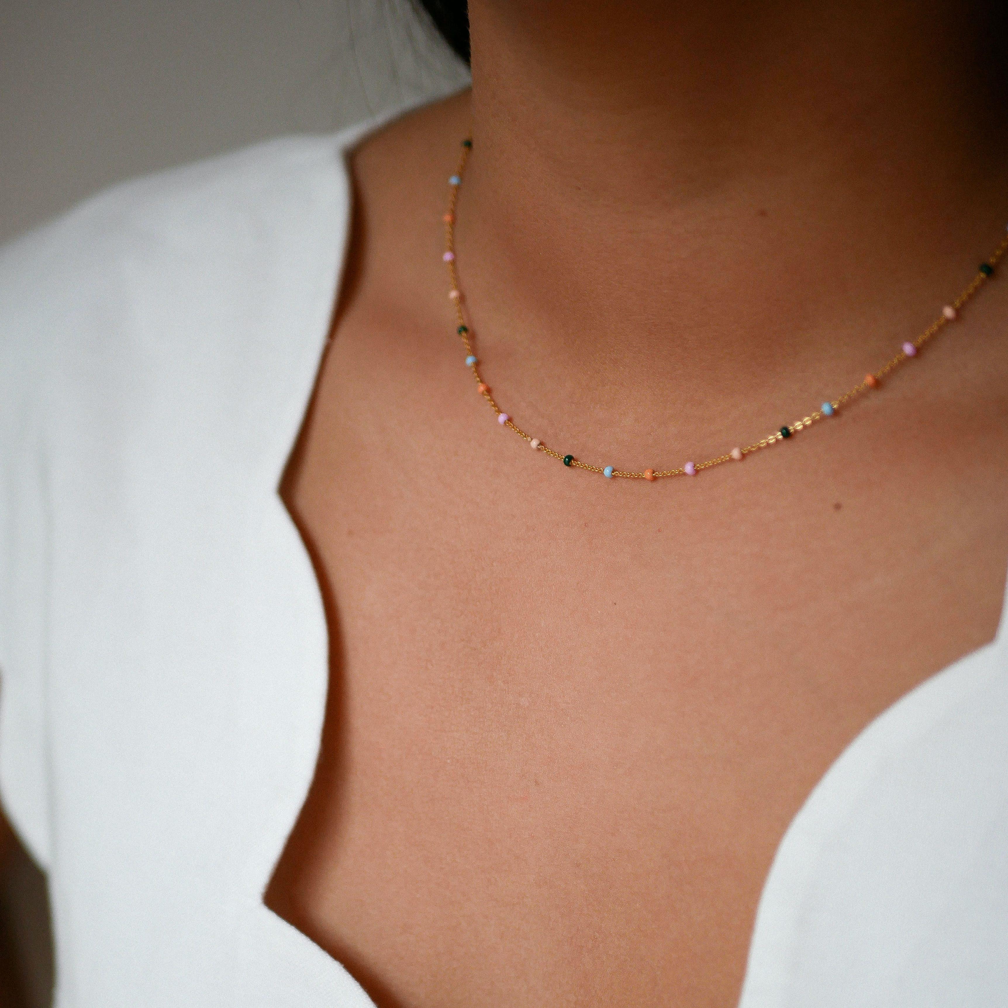 Lola Necklace Dreamy from Enamel Copenhagen in Goldplated-Silver Sterling 925