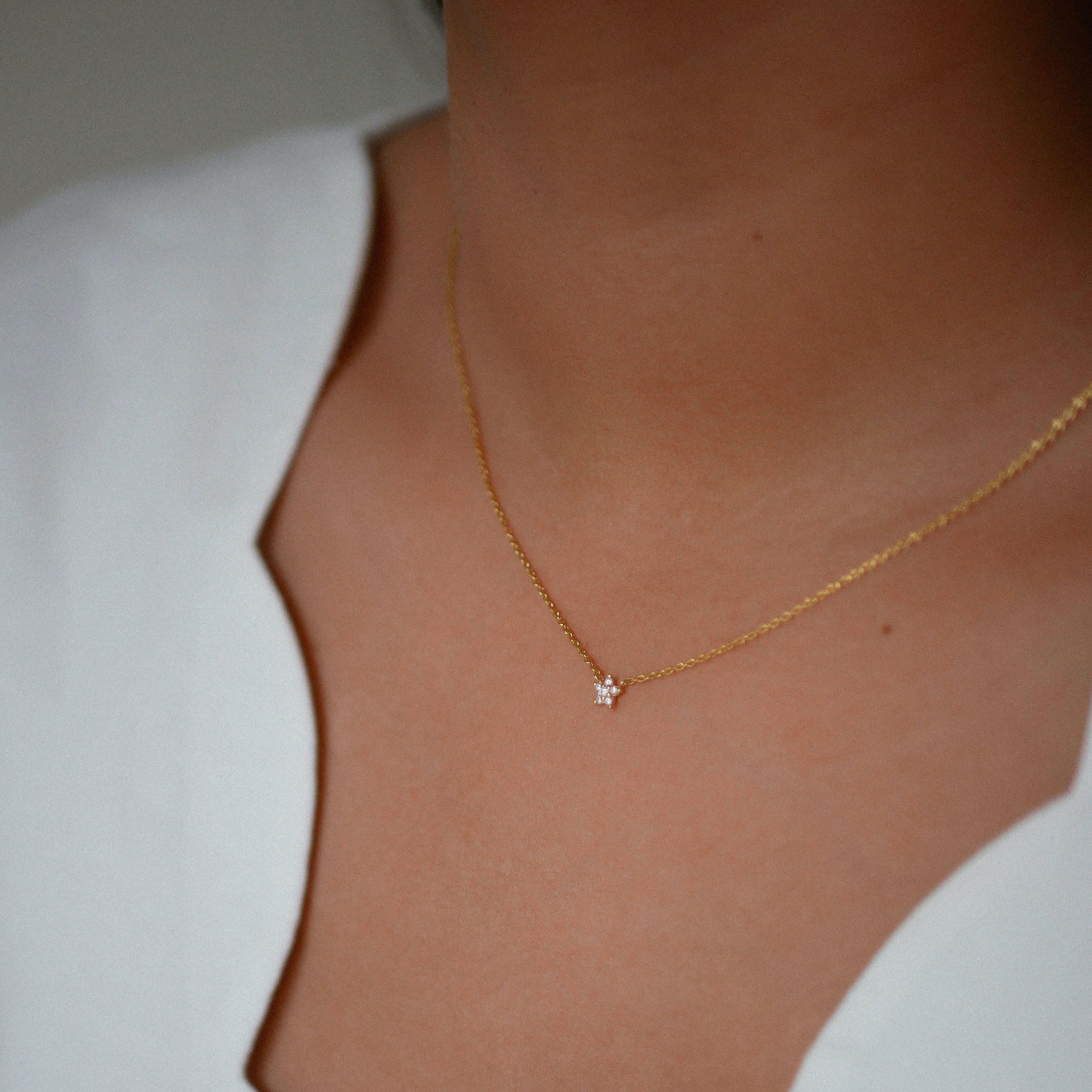 Fleur Necklace from Enamel Copenhagen in Goldplated-Silver Sterling 925