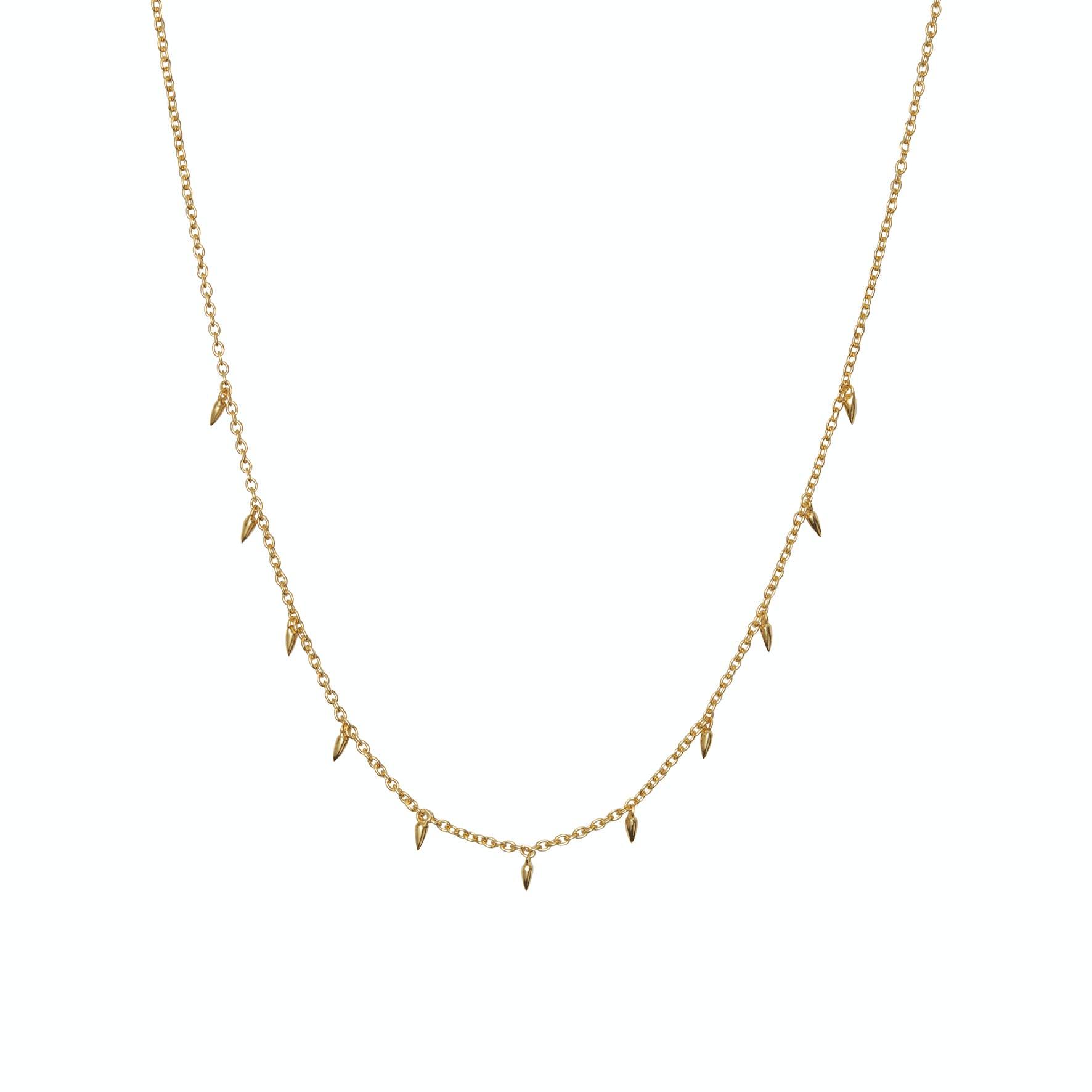 Pendul Necklace fra Maanesten i Forgylt-Sølv Sterling 925