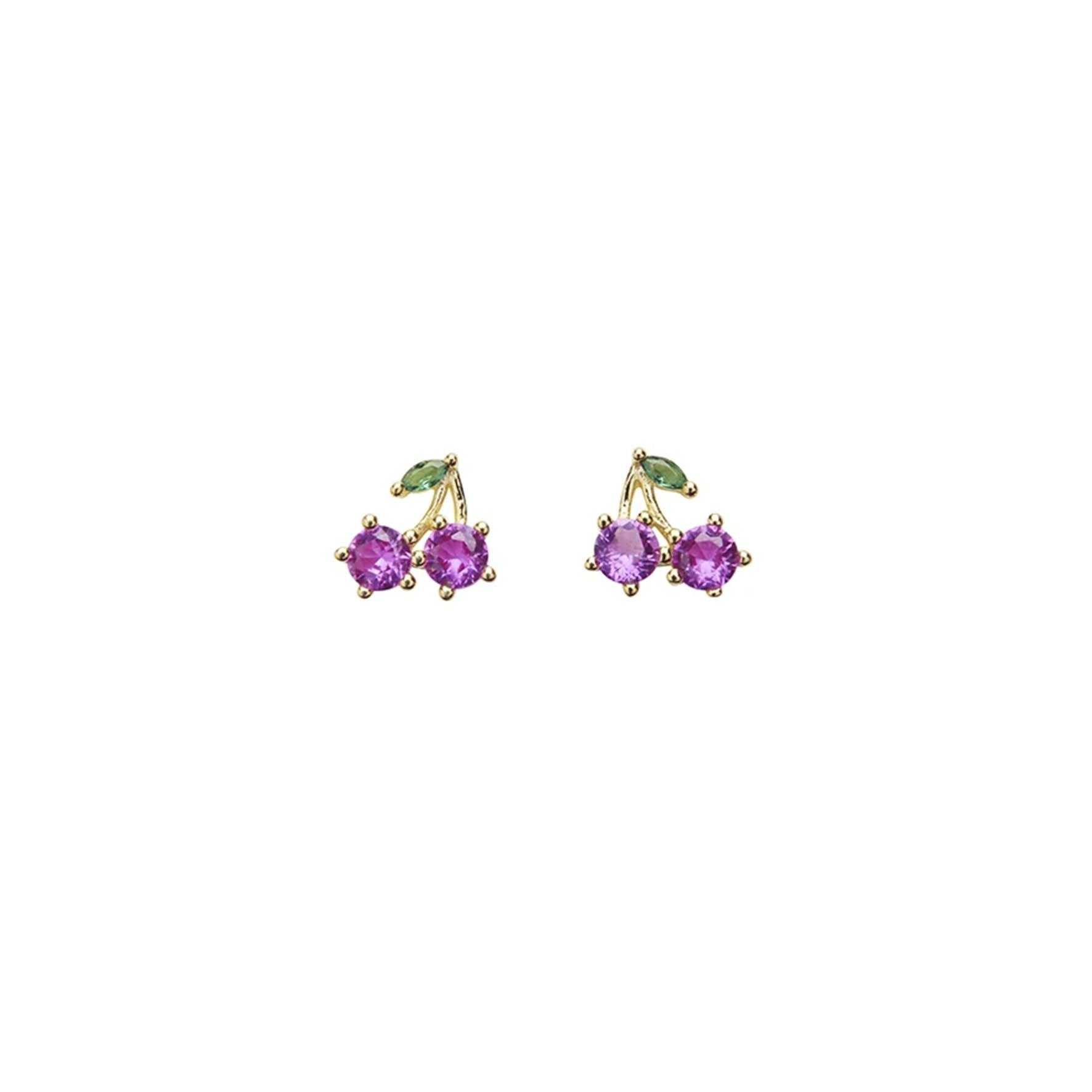 Cherry Crystal Earsticks
