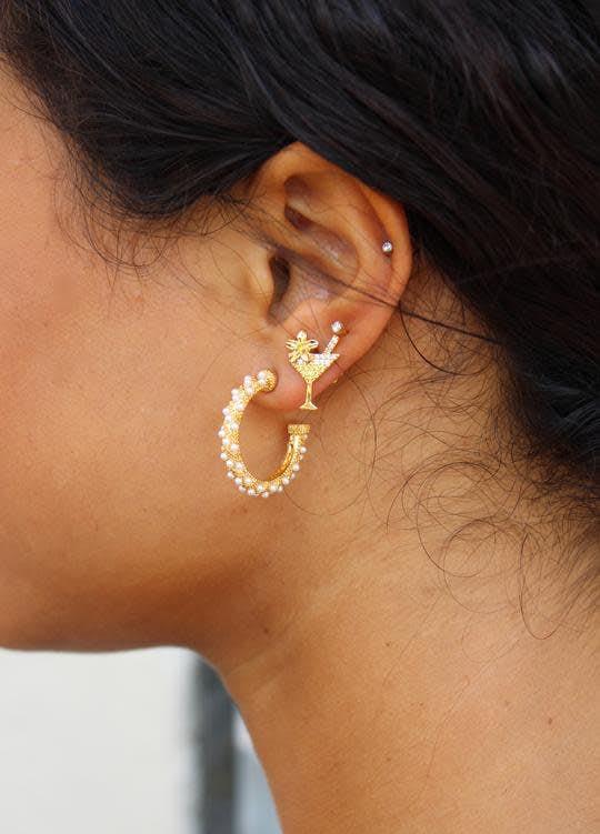 Akoya earrings