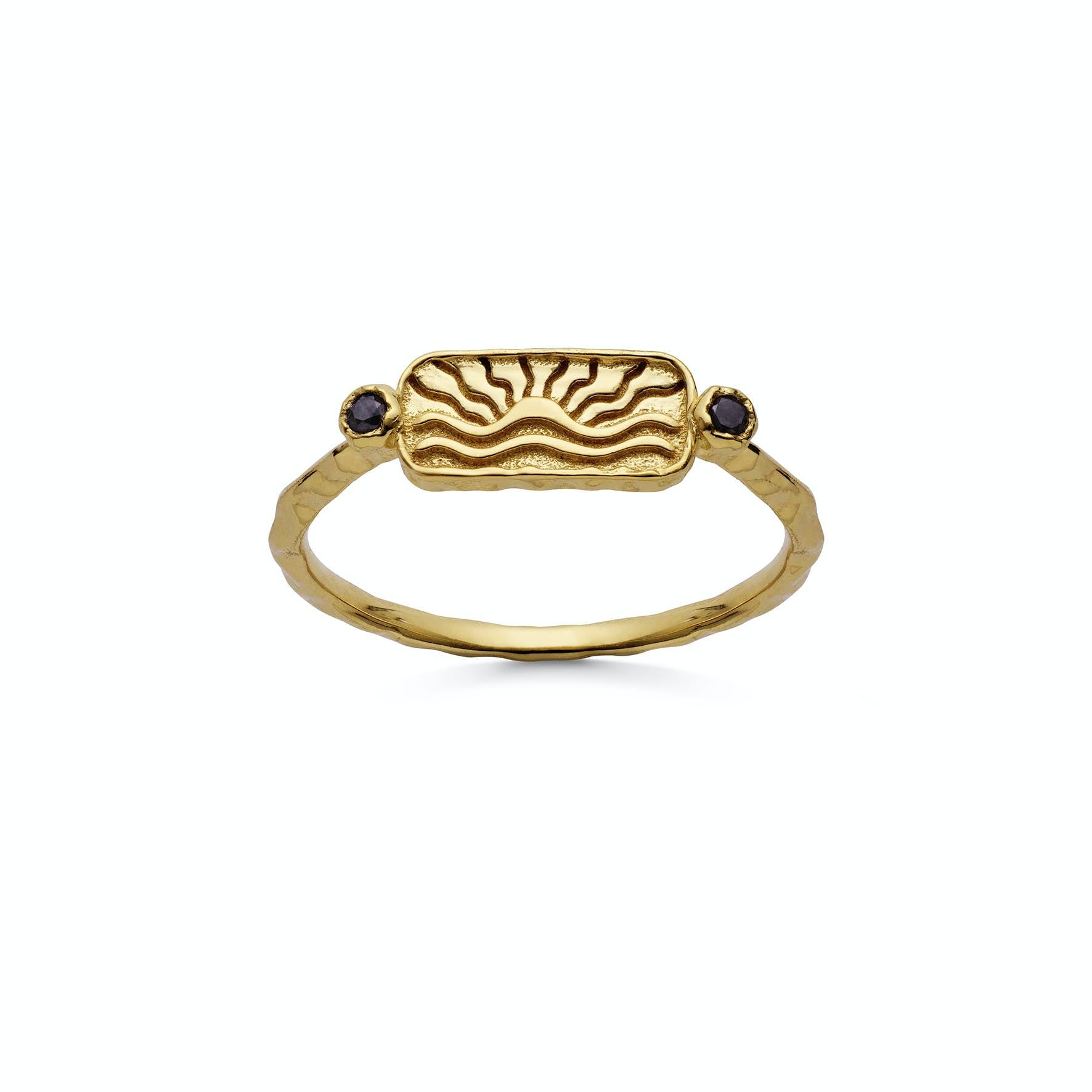 Sola Ring von Maanesten in Vergoldet-Silber Sterling 925