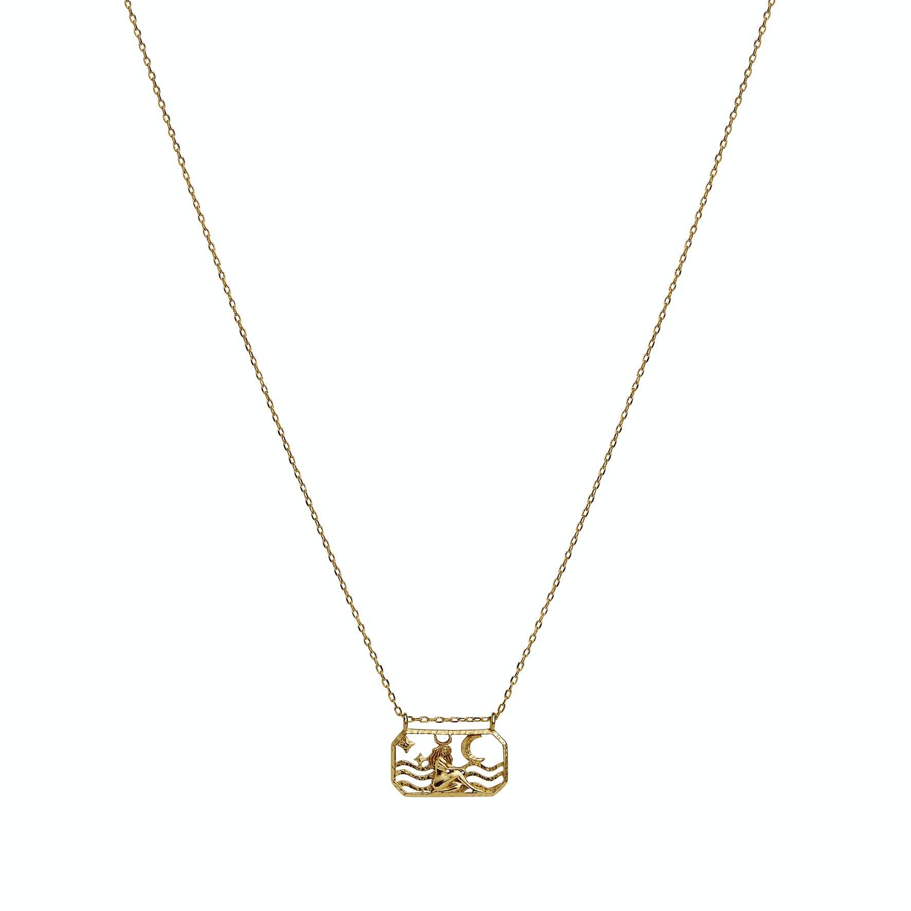 Zodiac Taurus Necklace (Apr 20 - May 21) von Maanesten in Vergoldet-Silber Sterling 925