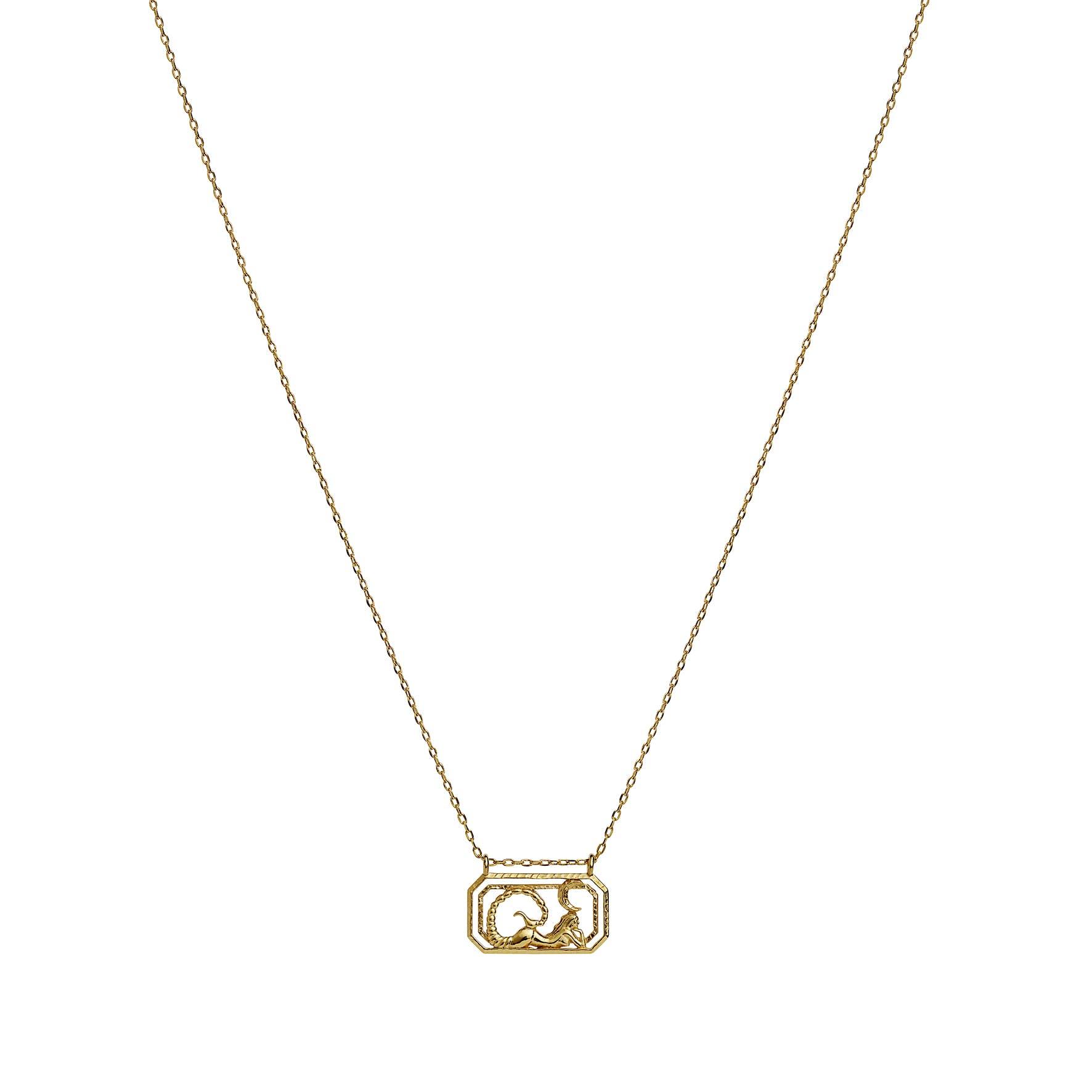 Zodiac Scorpio Necklace (Oct 23 - Nov 22) von Maanesten in Vergoldet-Silber Sterling 925