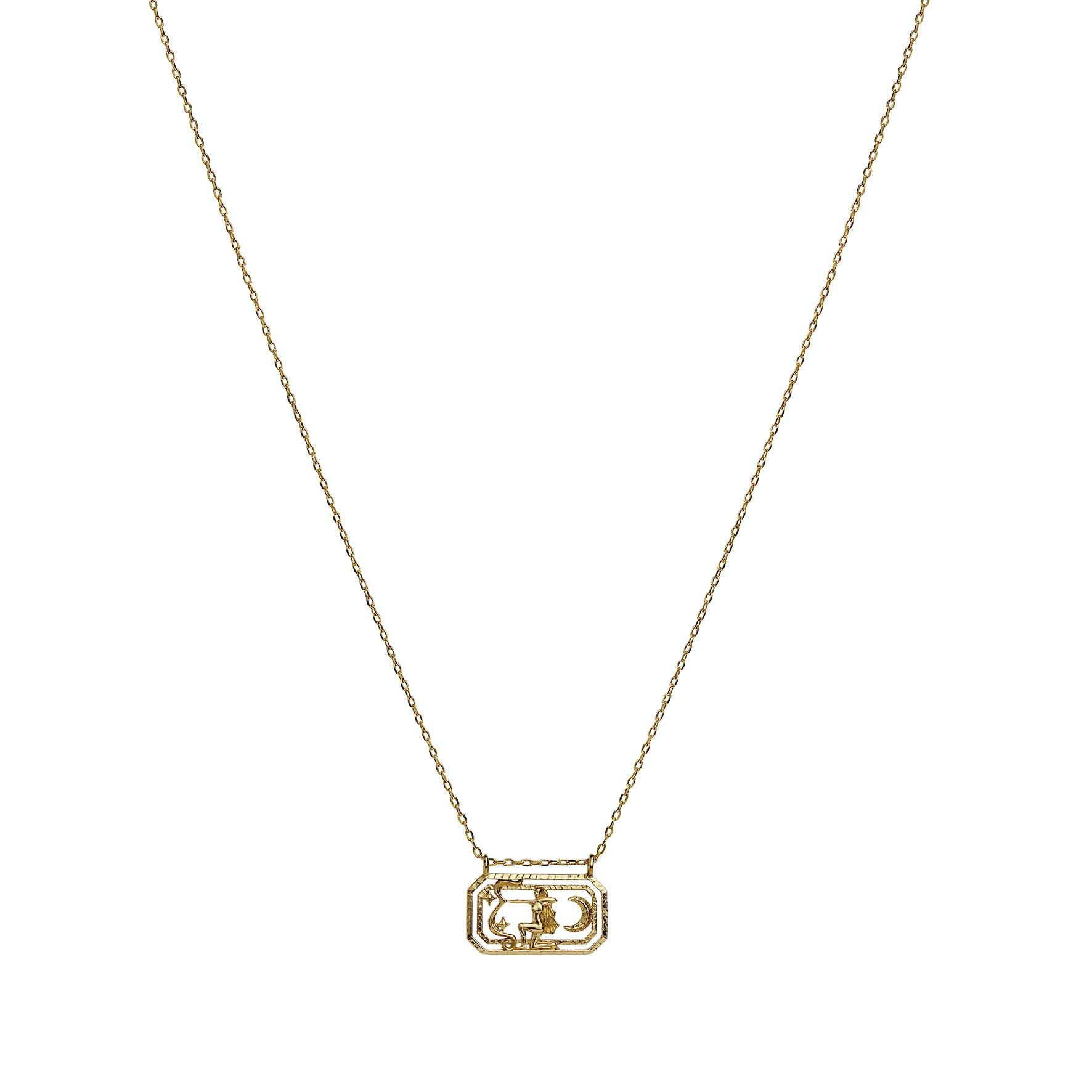 Zodiac Saggitarius Necklace (Nov 23 - Dec 21) von Maanesten in Vergoldet-Silber Sterling 925