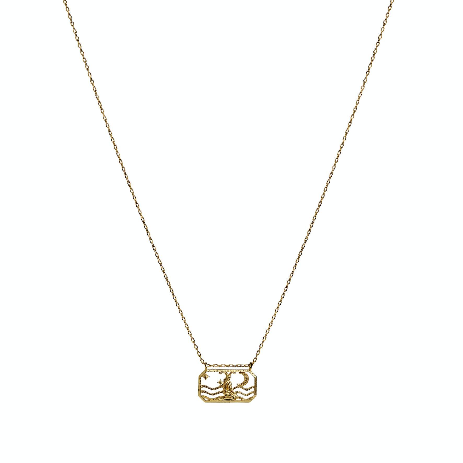 Zodiac Capricorn Necklace (Dec 22 - Jan 19) von Maanesten in Vergoldet-Silber Sterling 925