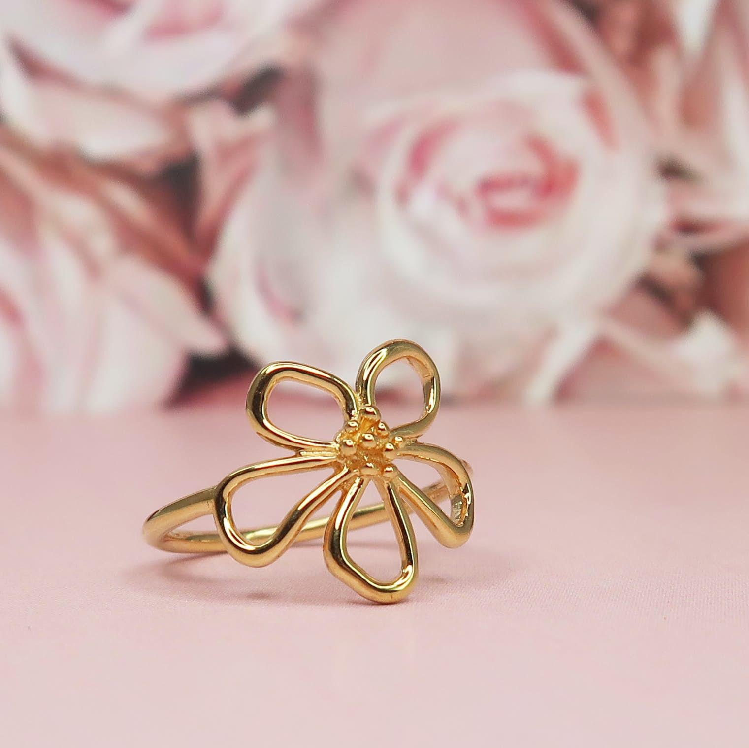 Honey Ring fra Izabel Camille i Forgylt-Sølv Sterling 925