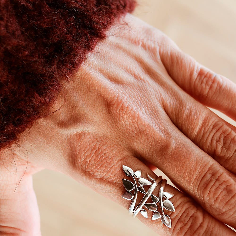 Poetry Large ring fra Izabel Camille i Forgyldt-Sølv Sterling 925