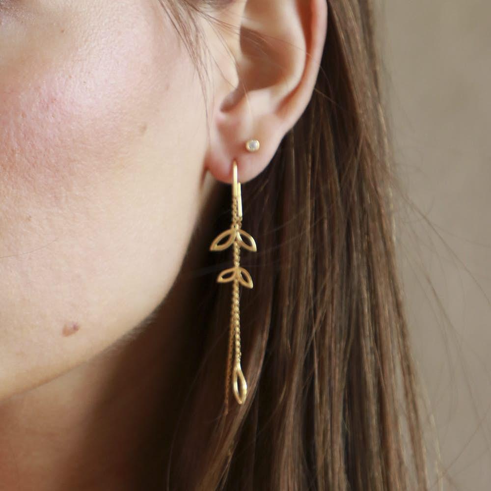 Dreamy Earrings Large från Izabel Camille i Silver Sterling 925