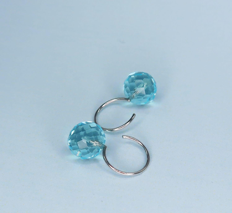 Marble earrings aqua fra Izabel Camille i Forgyldt-Sølv Sterling 925