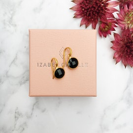 Prima Donna earrings small Black Onyx