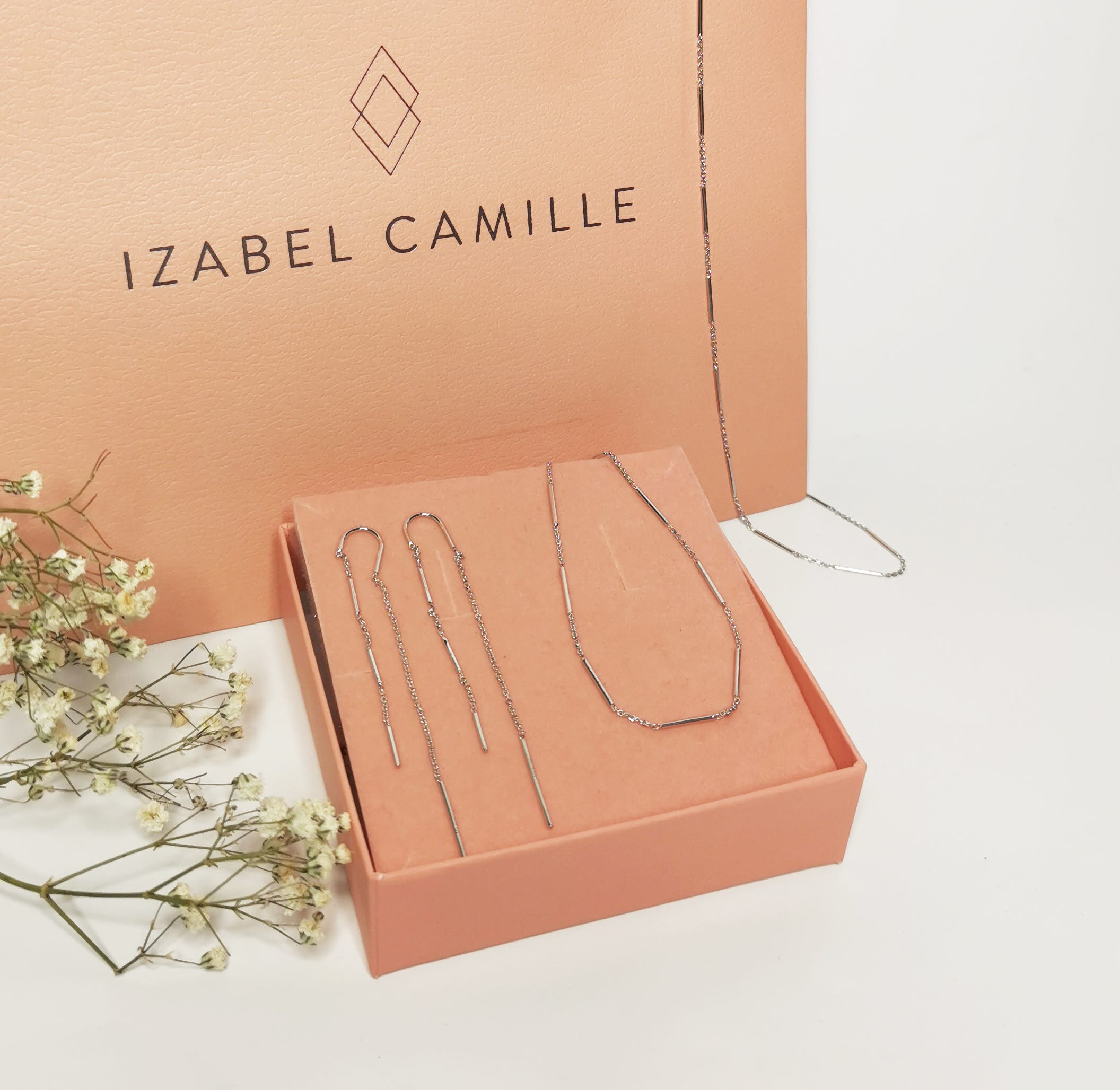 Rainfall earchains fra Izabel Camille i Forgyldt-Sølv Sterling 925
