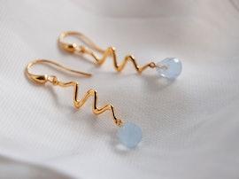 Saniya earrings blue from Izabel Camille in Silver Sterling 925