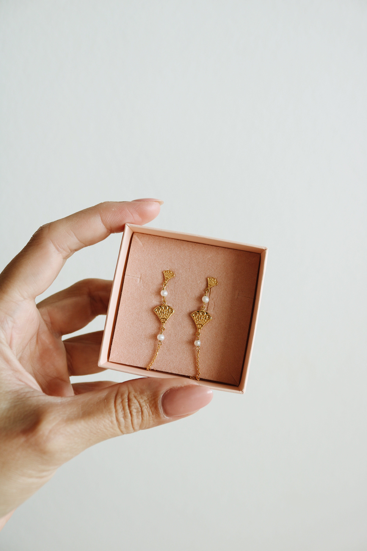 Bohemian Earrings Medium fra Izabel Camille i Forgylt-Sølv Sterling 925