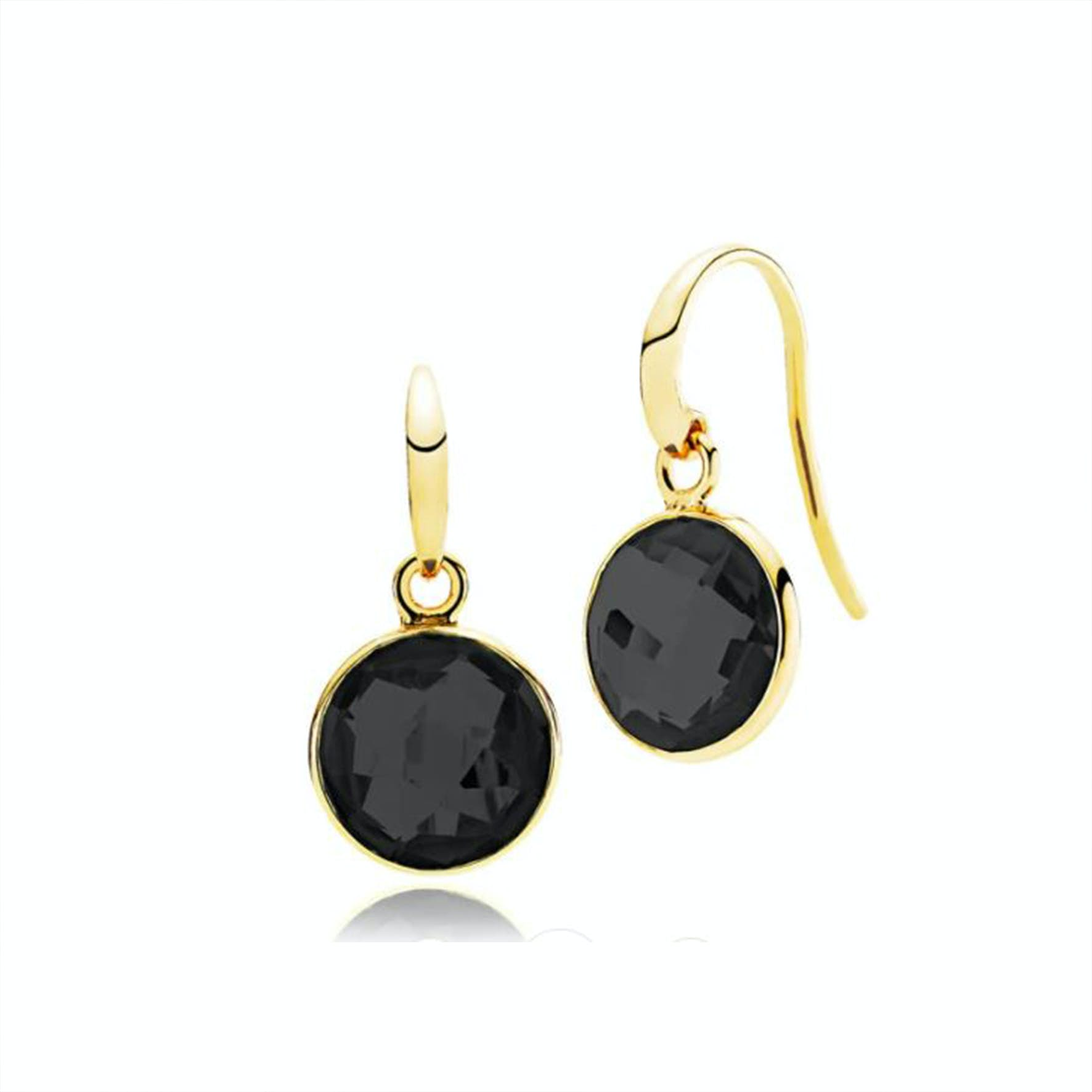 Prima Donna Earrings Black Onyx from Izabel Camille in Goldplated-Silver Sterling 925
