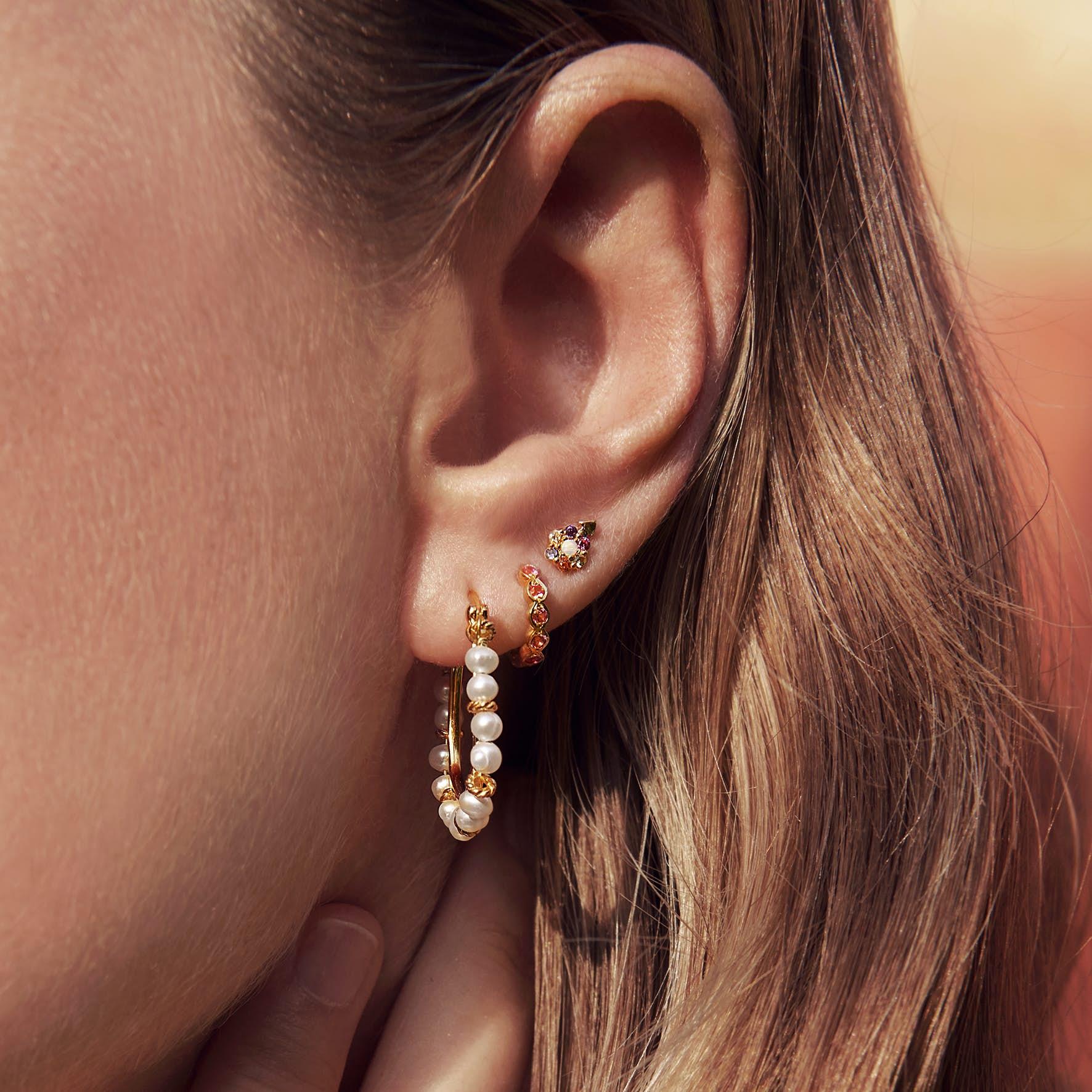 Calaya Earrings fra Maanesten i Forgyldt-Sølv Sterling 925