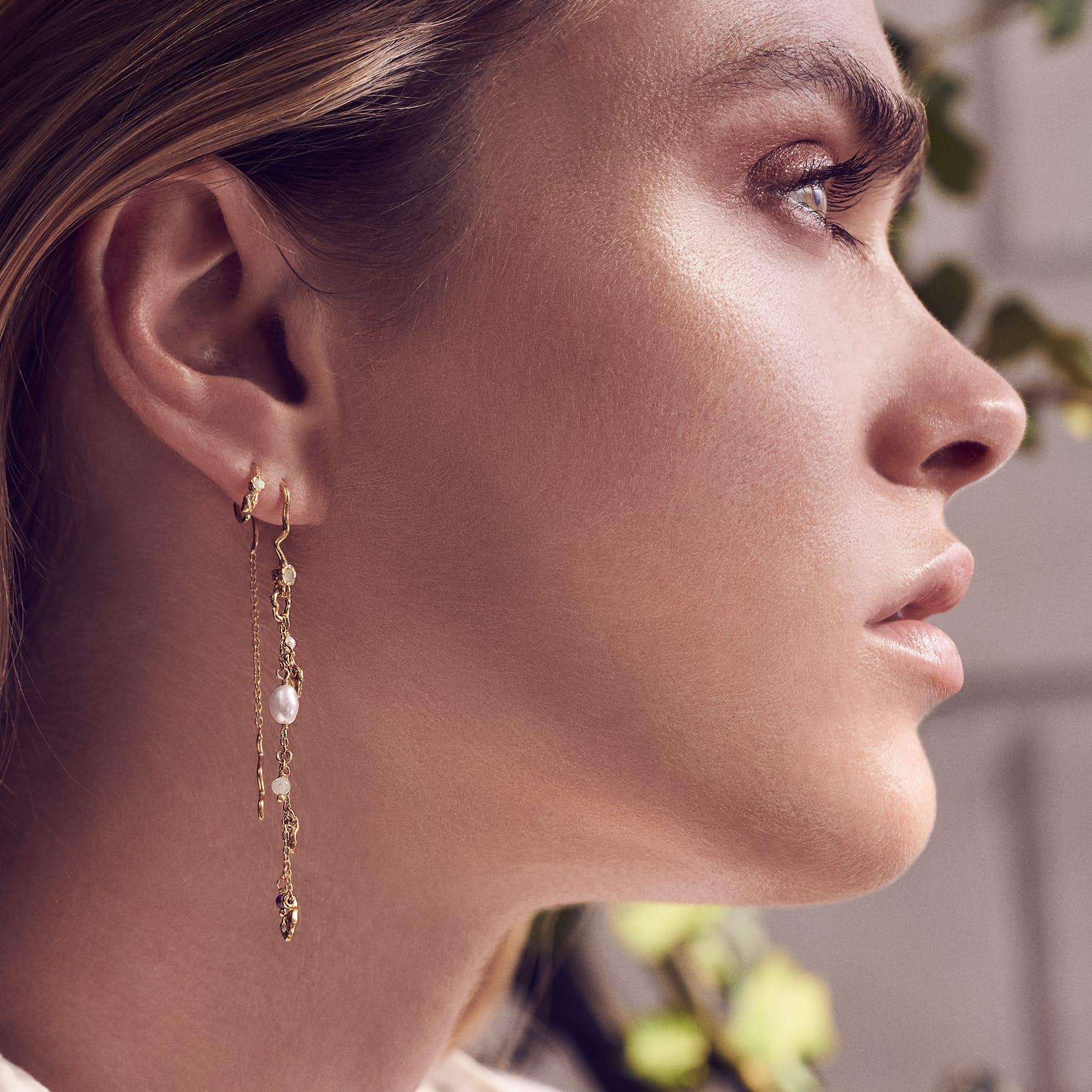 Poppy Earrings from Maanesten in Goldplated-Silver Sterling 925
