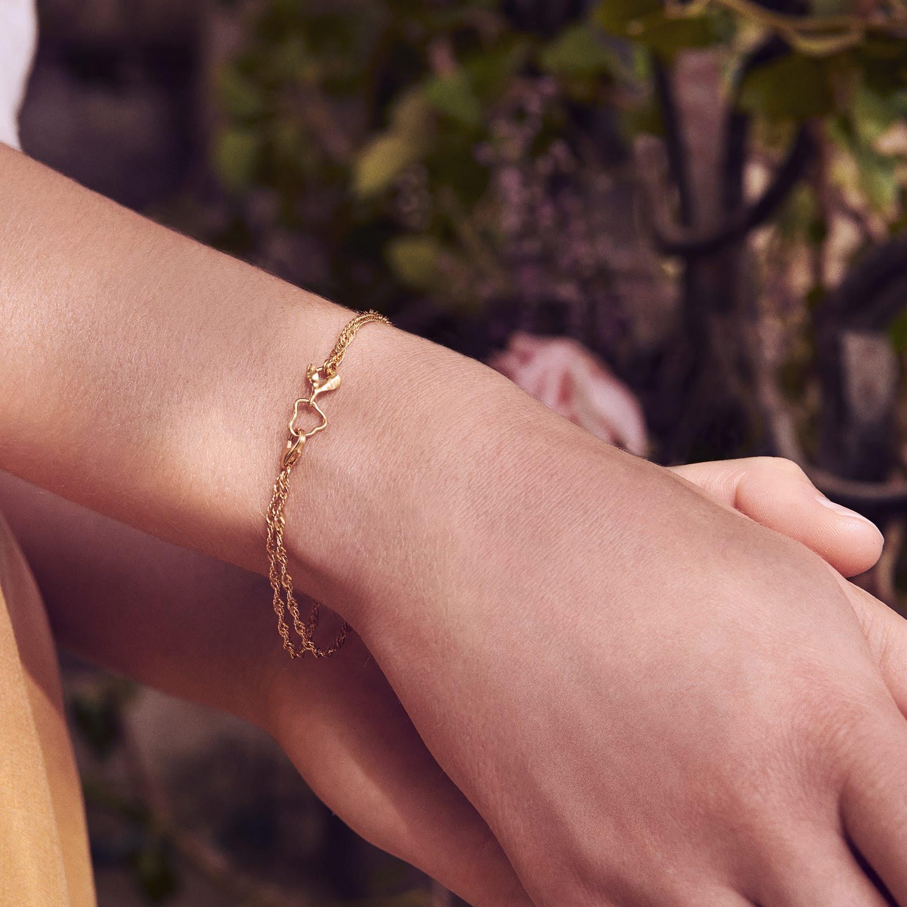 Canna Bracelet fra Maanesten i Forgyldt-Sølv Sterling 925