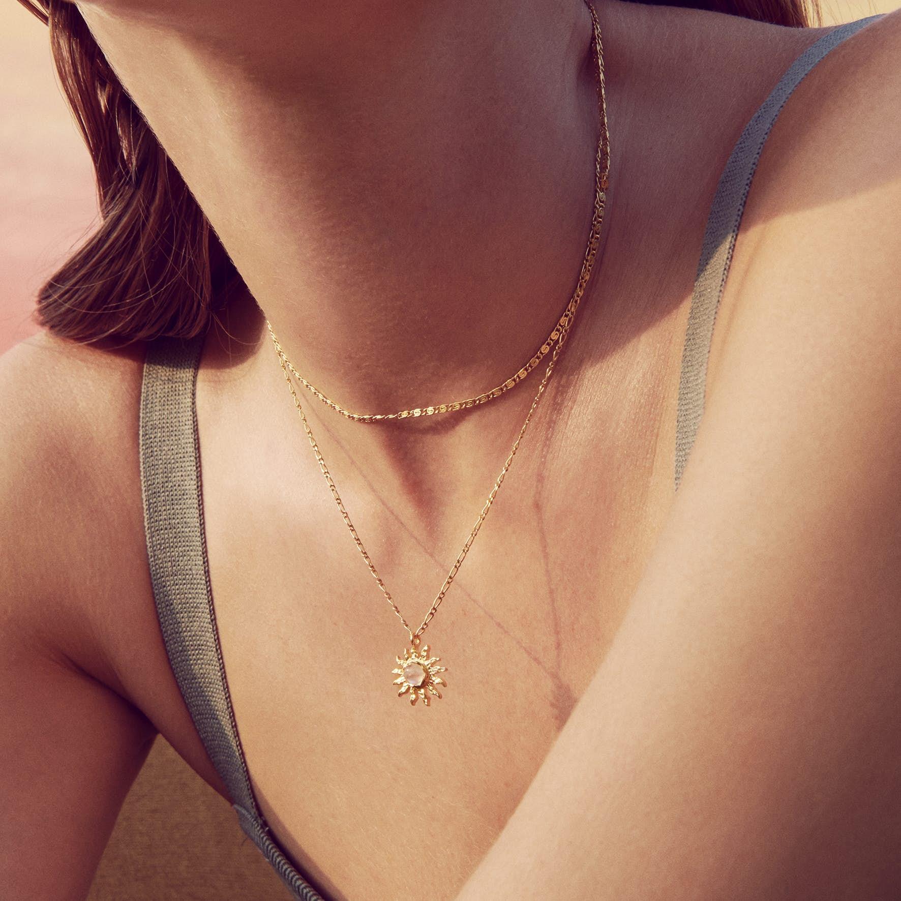Eva Choker necklace fra Maanesten i Sølv Sterling 925|Blank