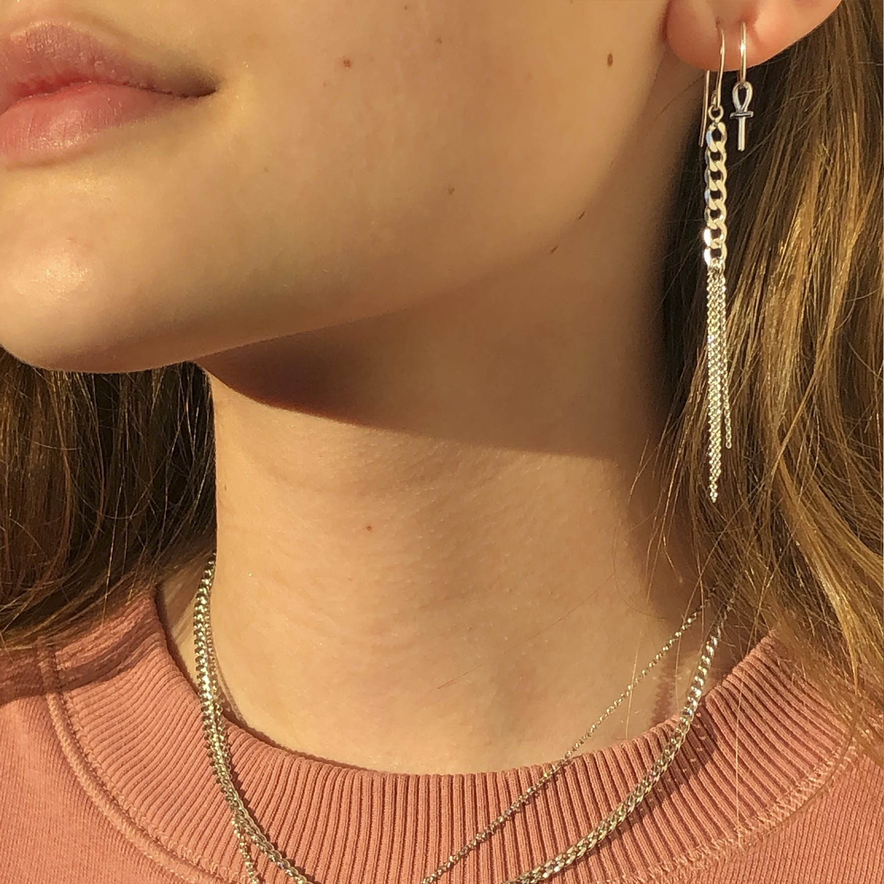Young One Egypt creol earrings von Sistie in Vergoldet-Silber Sterling 925