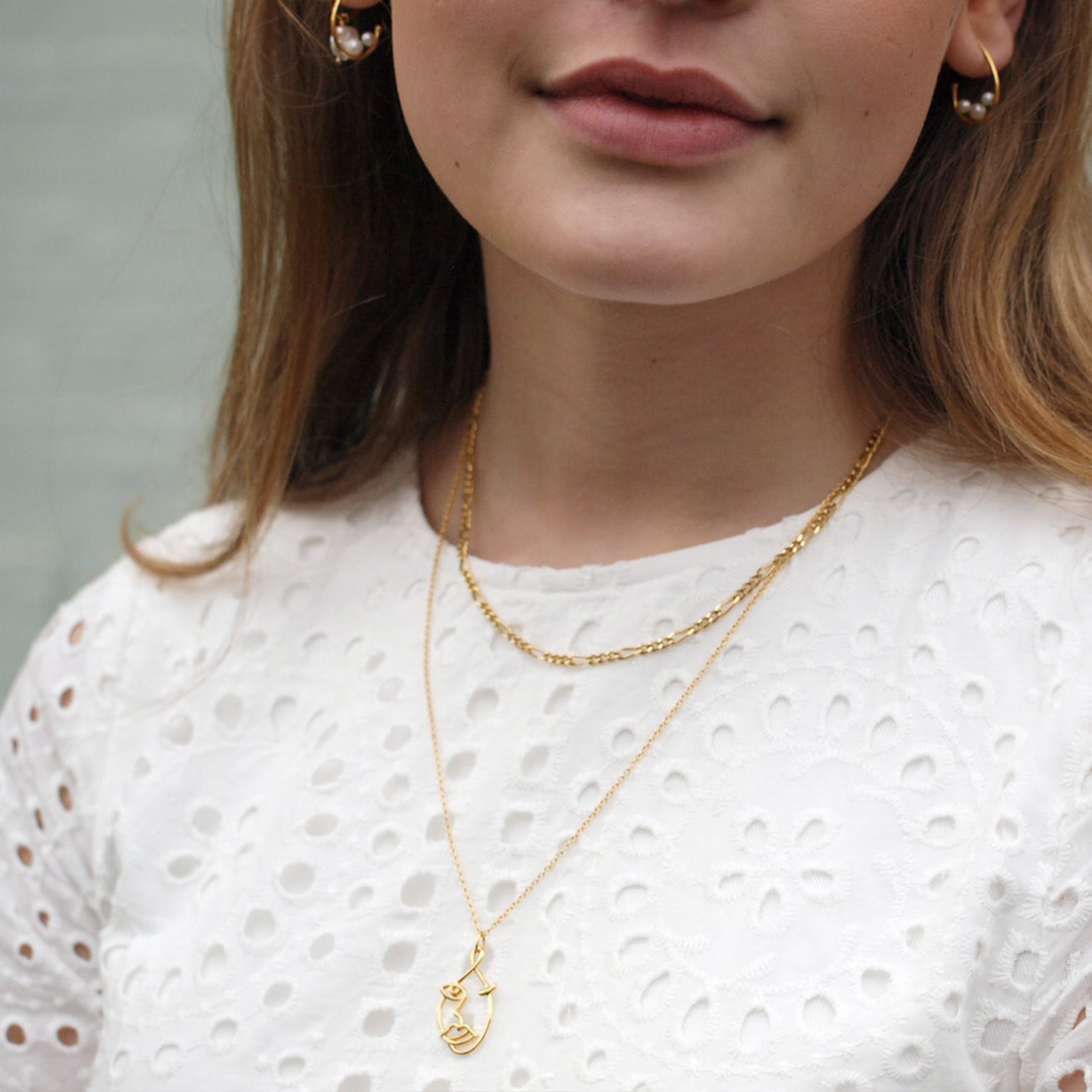 Lizzy necklace från Sistie i Förgyllt-Silver Sterling 925|Blank