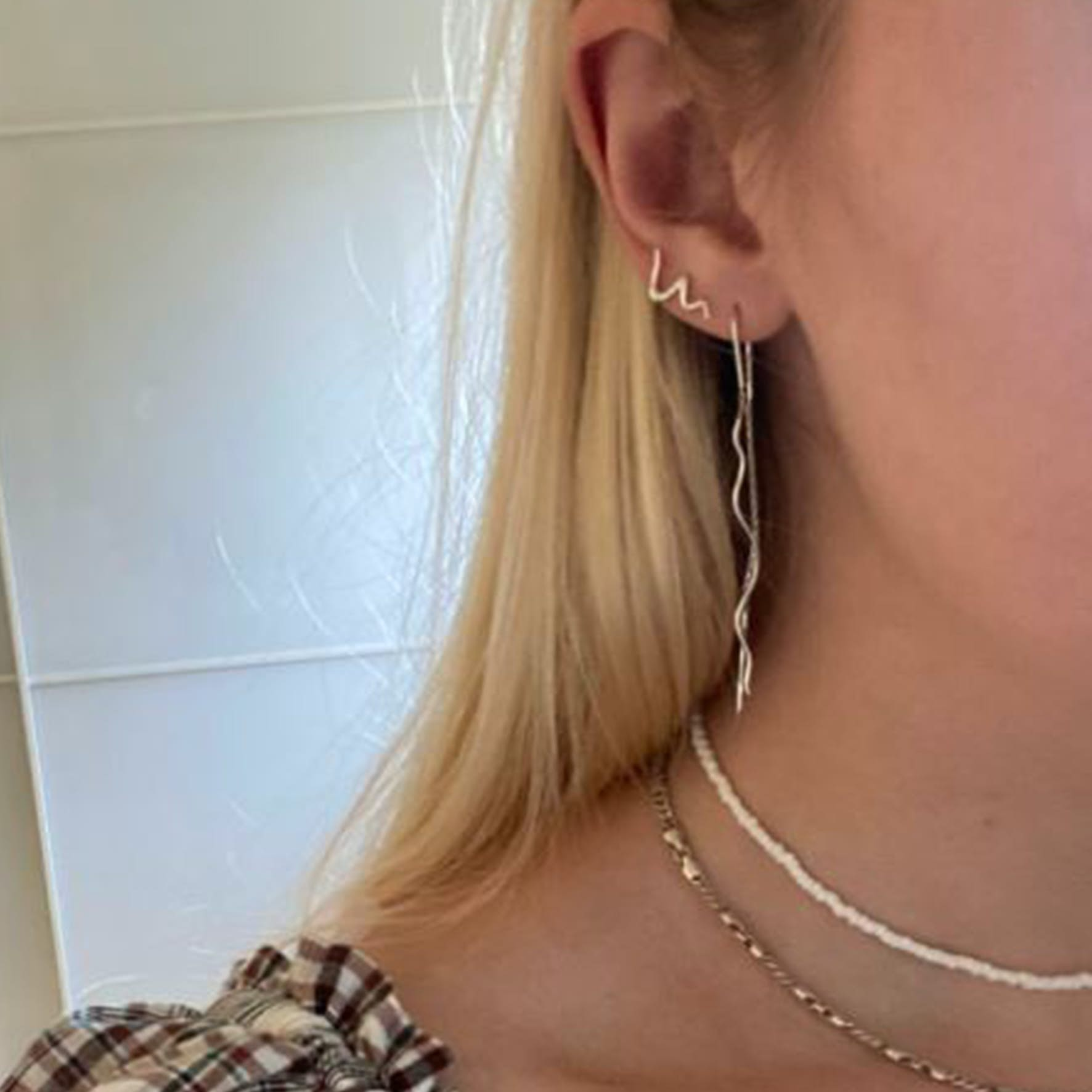 Young One Snake Earchains von Sistie in Vergoldet-Silber Sterling 925