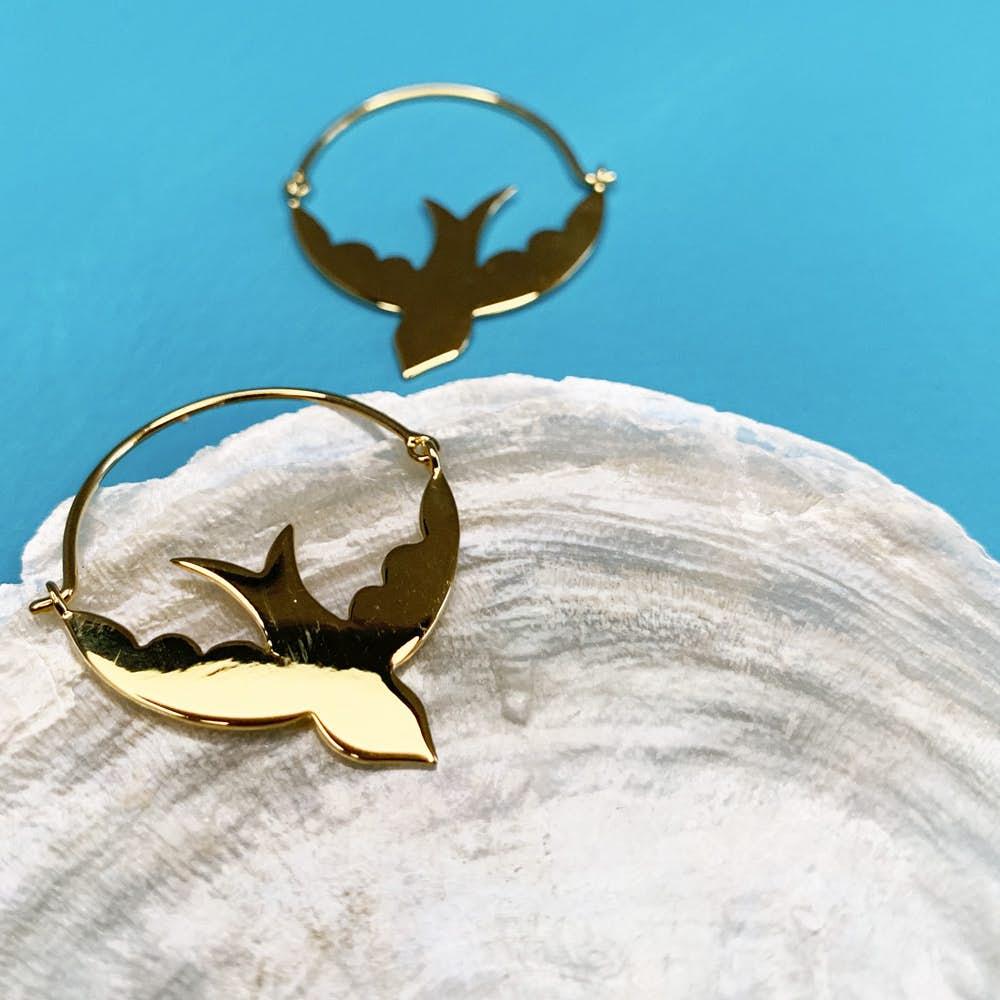 Songbird creol earrings von Sistie in Silber Sterling 925