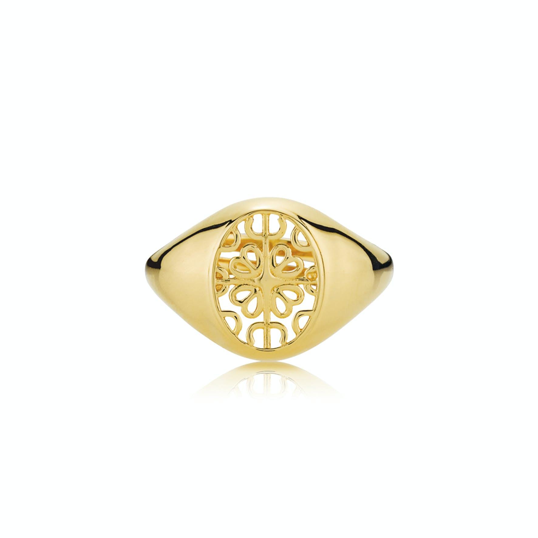Balance Round Ring fra Sistie i Forgyldt-Sølv Sterling 925