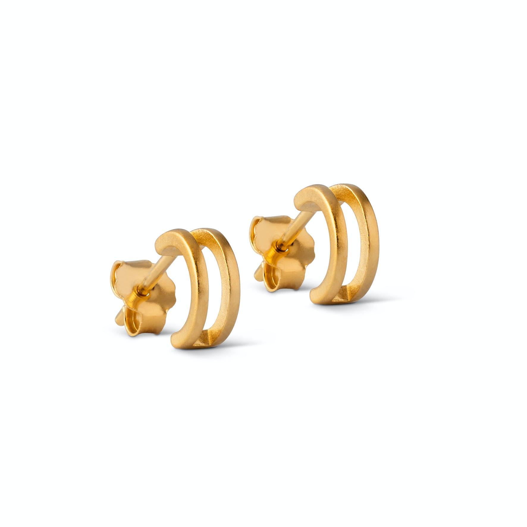 Double Loop Earsticks from Enamel Copenhagen in Goldplated-Silver Sterling 925