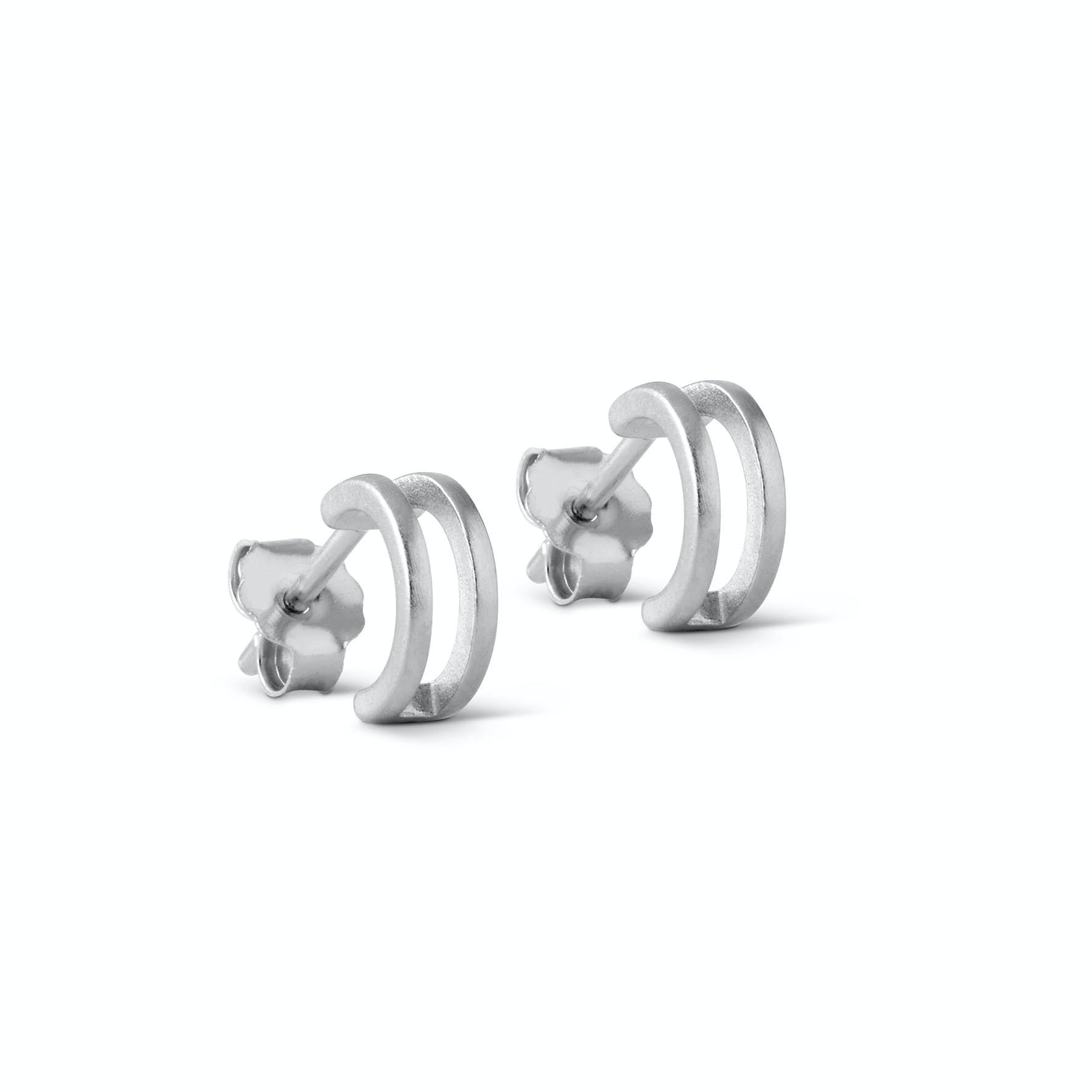 Double Loop Earsticks von Enamel Copenhagen in Silber Sterling 925