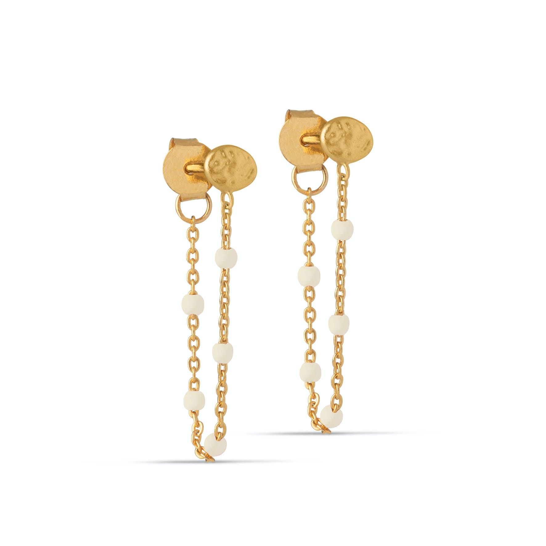 Lola Earrings Daisy from Enamel Copenhagen in Goldplated-Silver Sterling 925