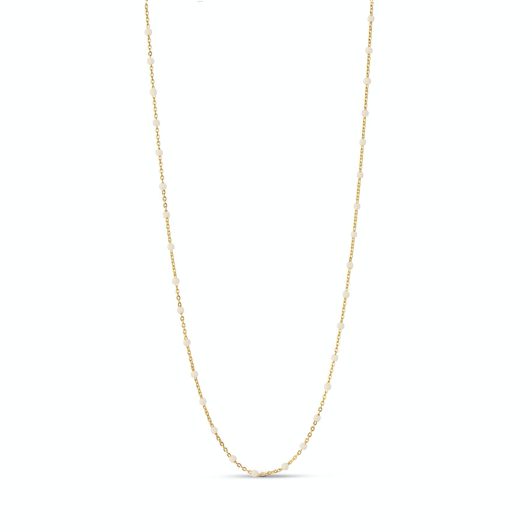 Lola Necklace Daisy fra Enamel Copenhagen i Forgyldt-Sølv Sterling 925