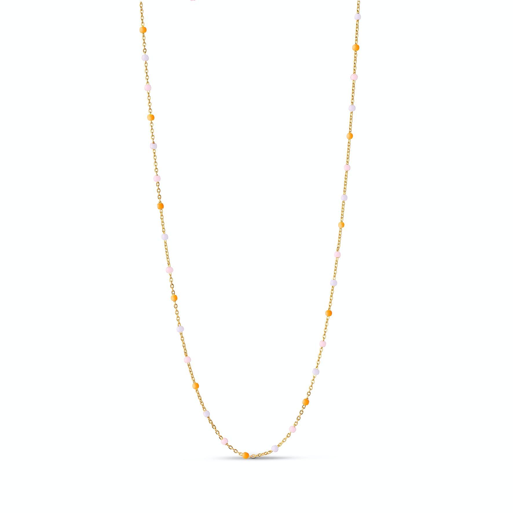 Lola Necklace Heavenly fra Enamel Copenhagen i Forgyldt-Sølv Sterling 925