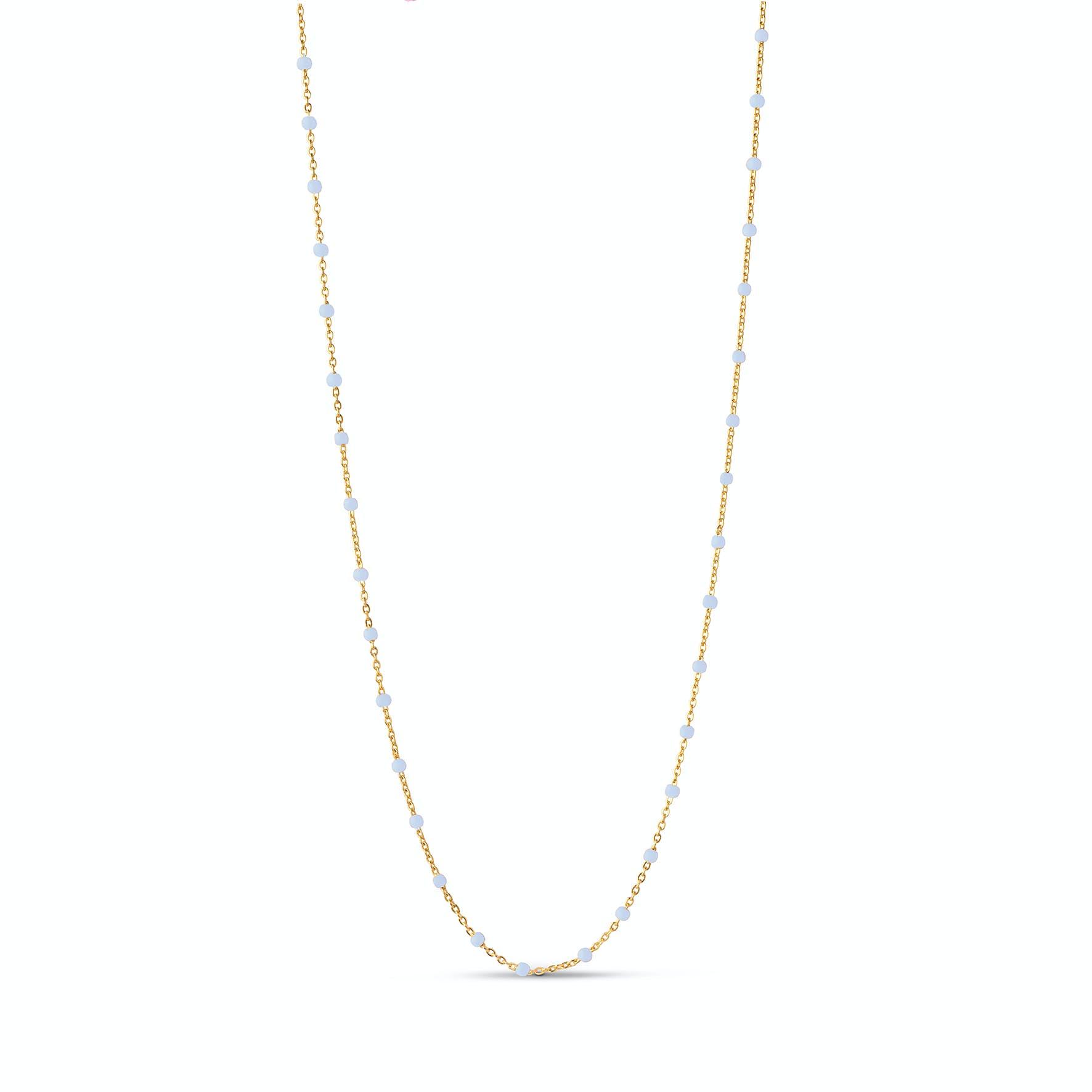 Lola Necklace Sky fra Enamel Copenhagen i Forgylt-Sølv Sterling 925