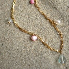 Mellow Necklace von Enamel Copenhagen in Vergoldet-Silber Sterling 925