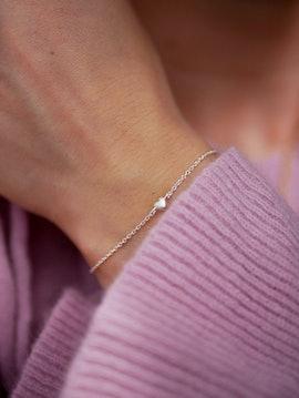 Little Love bracelet from Enamel Copenhagen in Goldplated-Silver Sterling 925| Matt,Blank