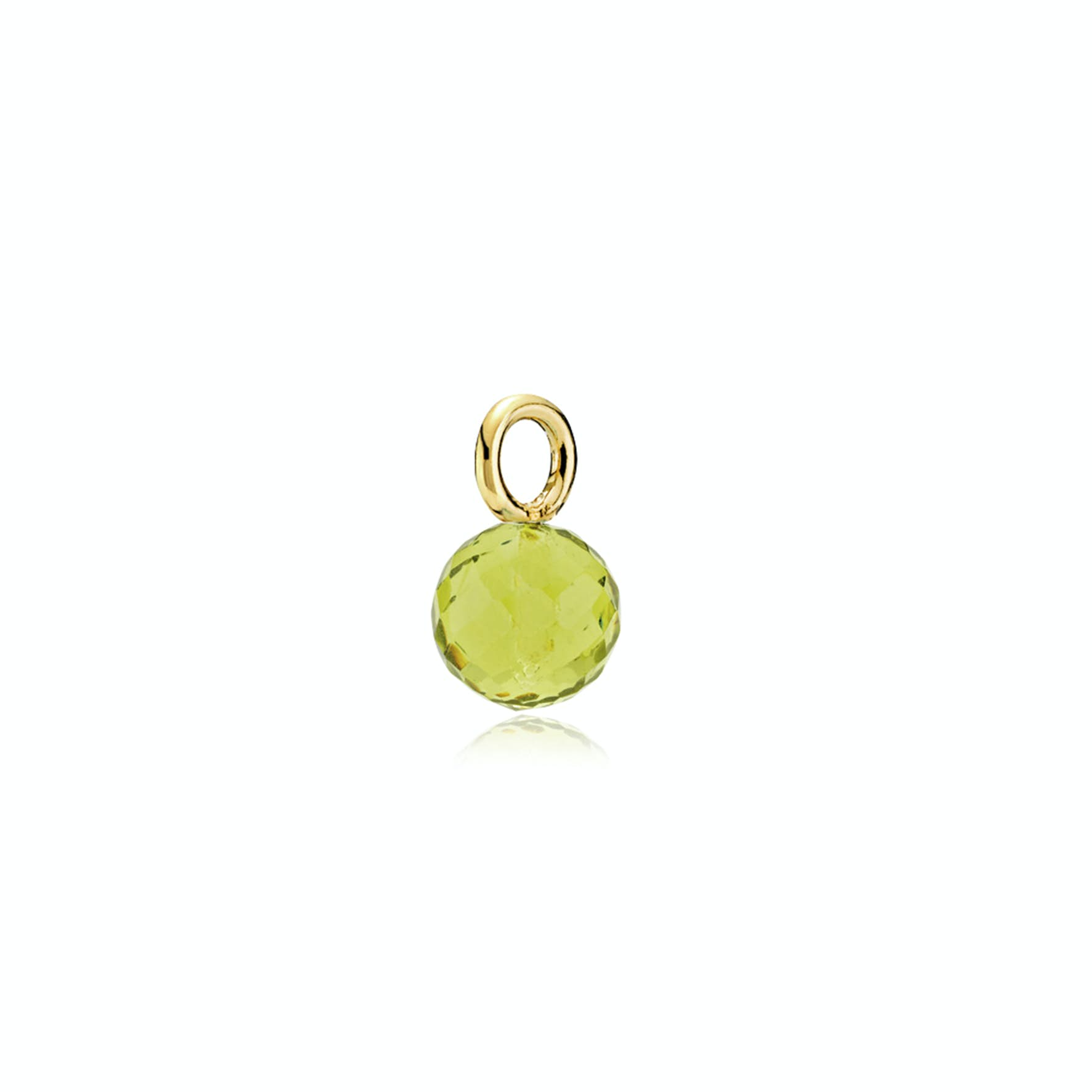 Marble Pendant Peridot Green from Izabel Camille in Goldplated-Silver Sterling 925