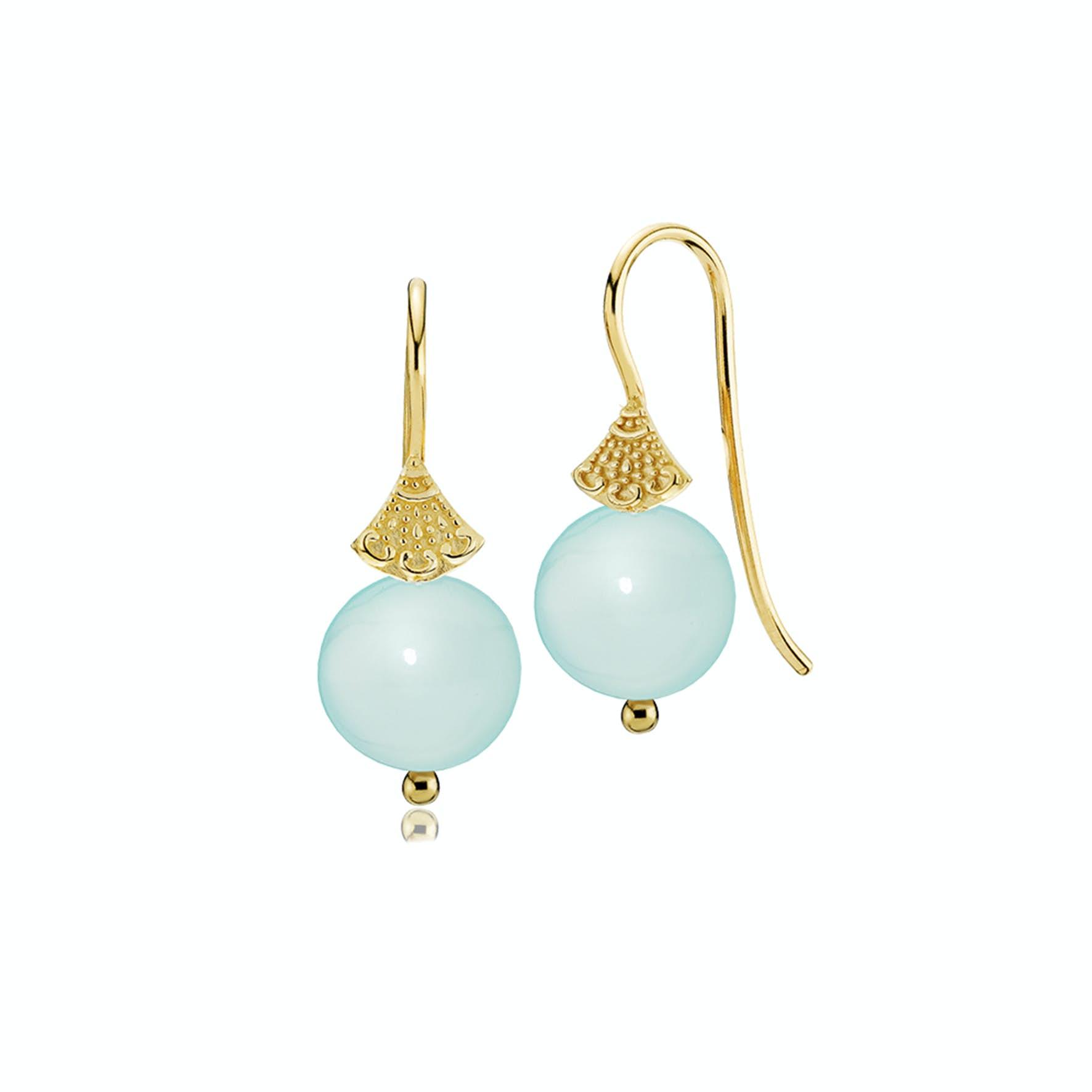 Bohemian Earrings Small Aqua Blue