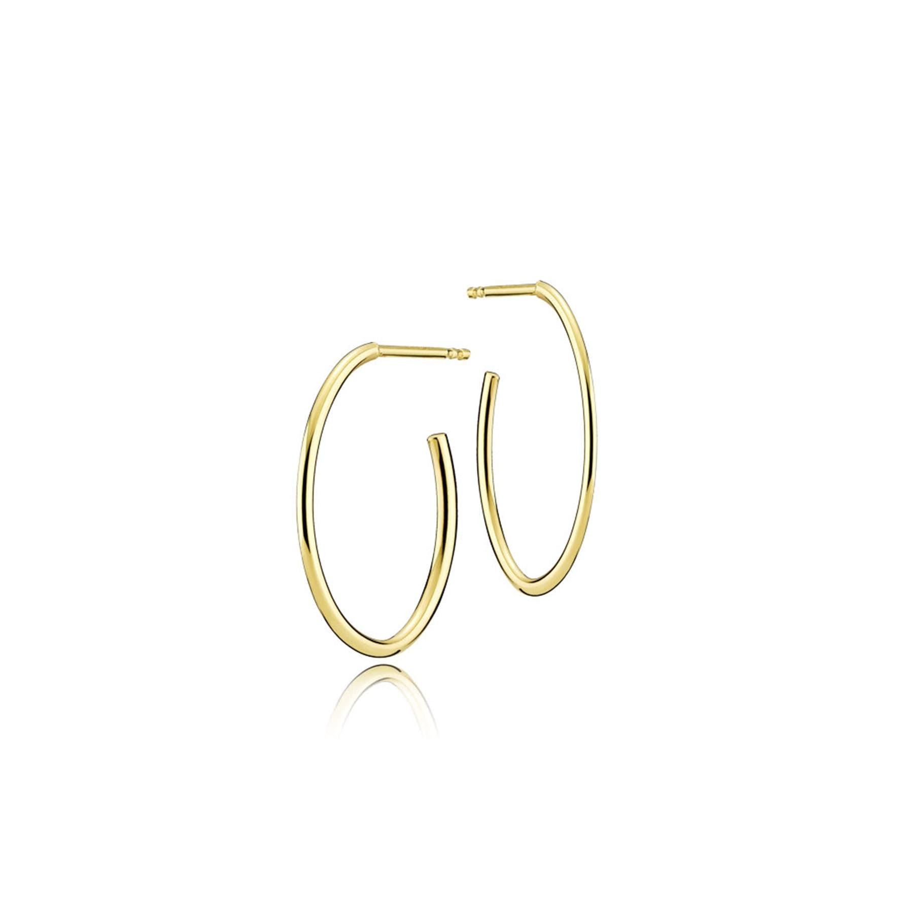 Endless Earrings fra Izabel Camille i Forgyldt-Sølv Sterling 925