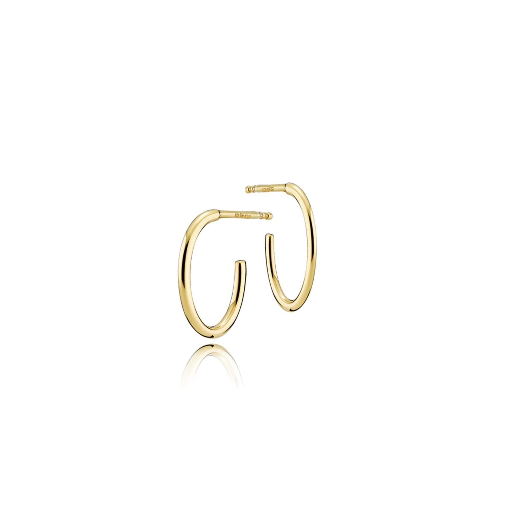 Endless Earrings Small fra Izabel Camille i Forgylt-Sølv Sterling 925