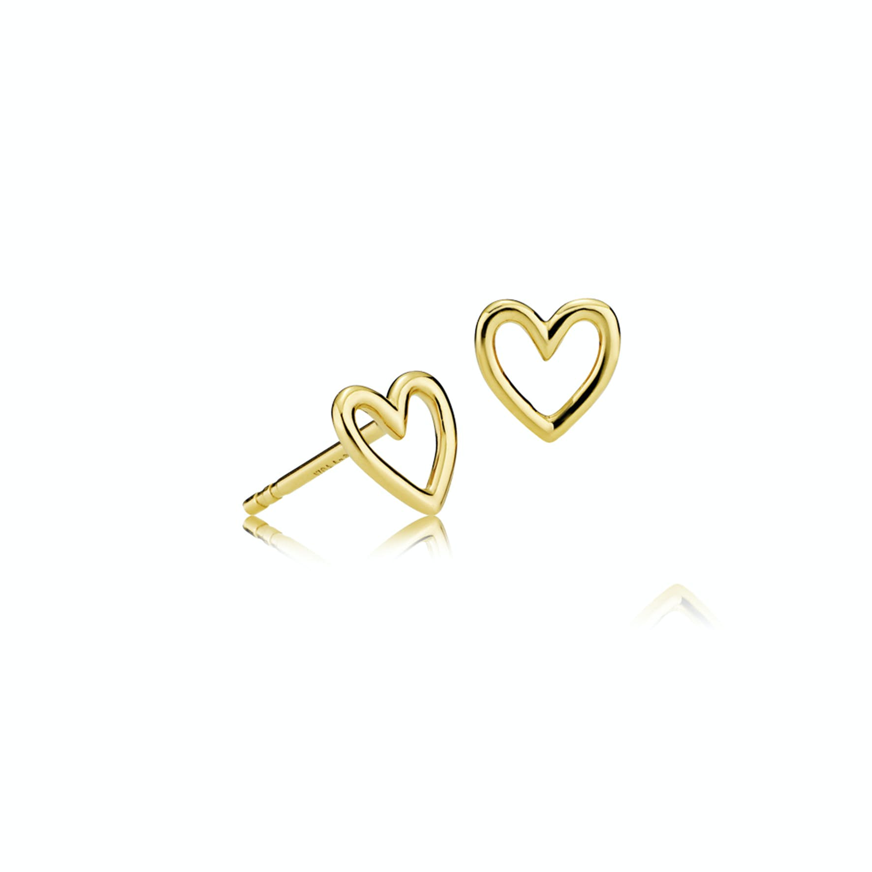 Love Charity Earsticks fra Izabel Camille i Forgyldt-Sølv Sterling 925