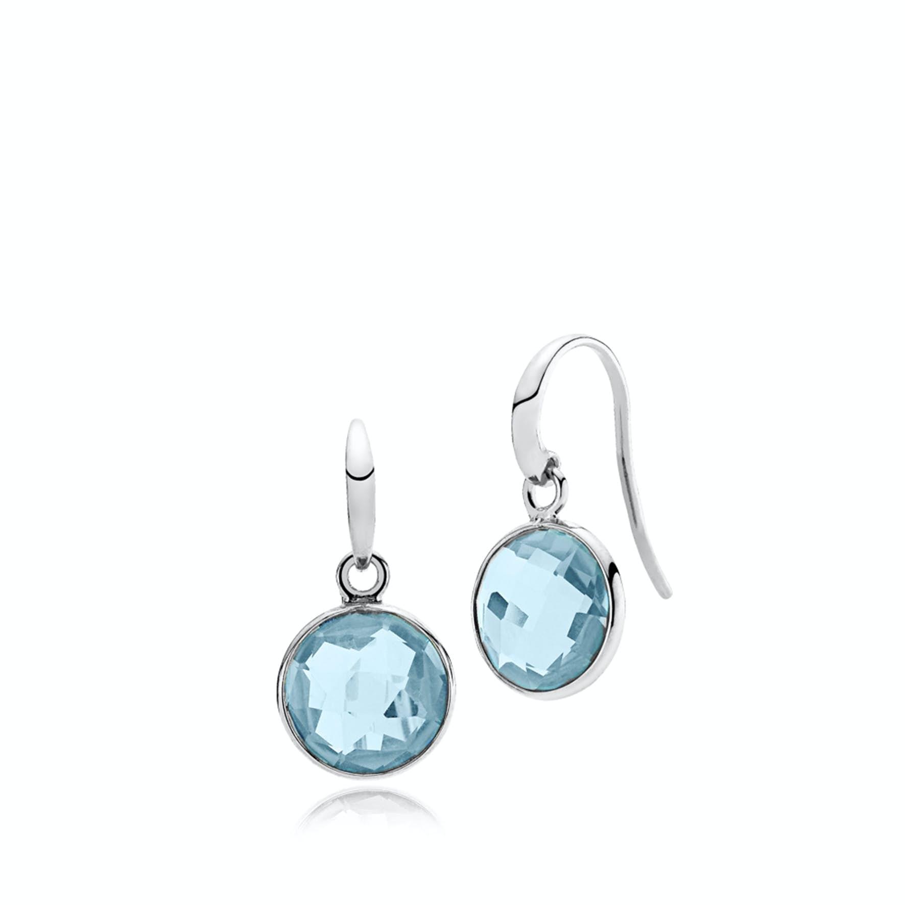 Prima Donna Earrings Aqua Blue fra Izabel Camille i Sølv Sterling 925 Aqua Blue