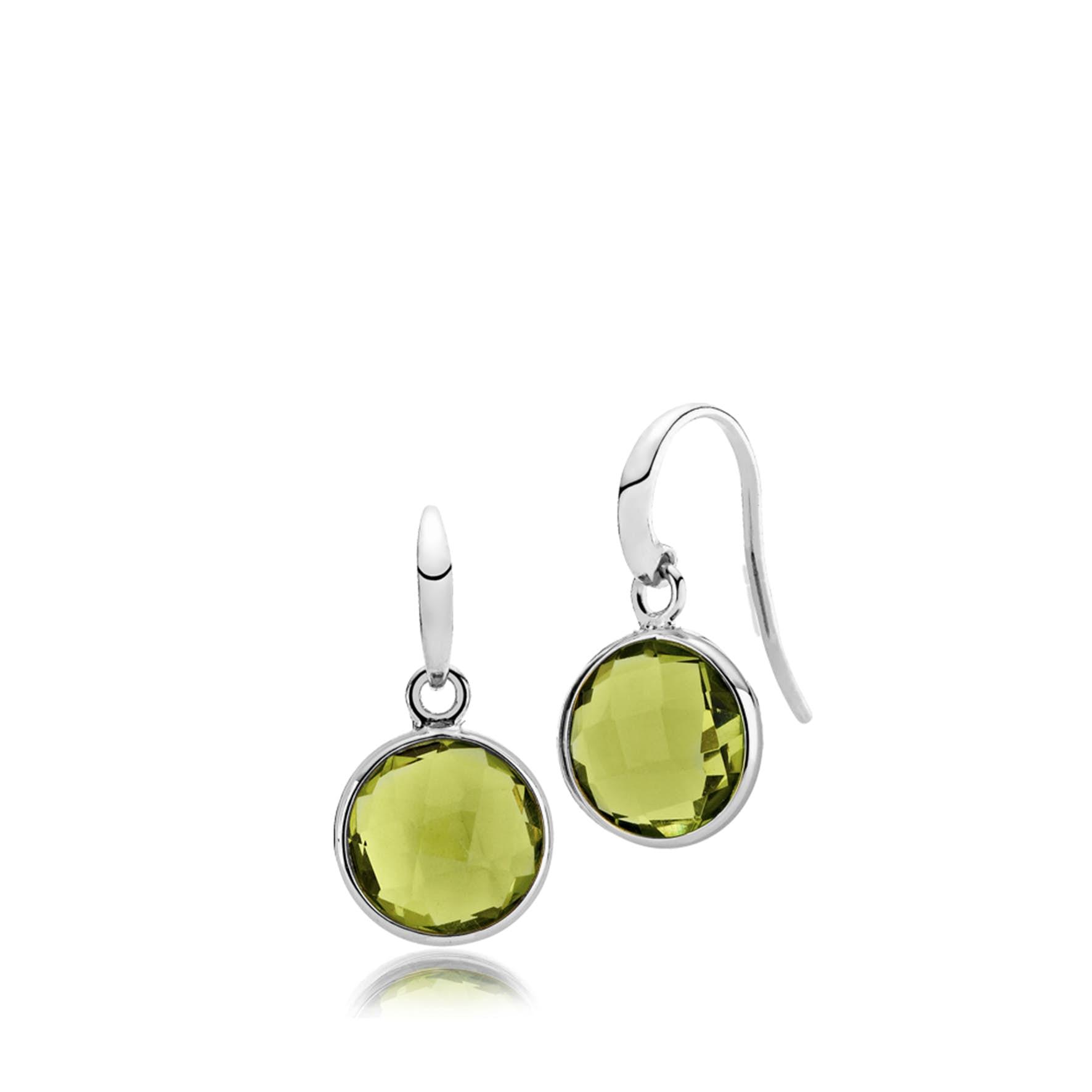 Prima Donna Earrings Peridot Green from Izabel Camille in Silver Sterling 925|Peridot Green