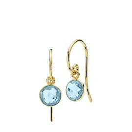 Prima Donna Earrings Small Aqua Blue fra Izabel Camille i Forgylt-Sølv Sterling 925|Aqua Blue