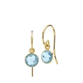 Prima Donna Earrings Small Aqua Blue
