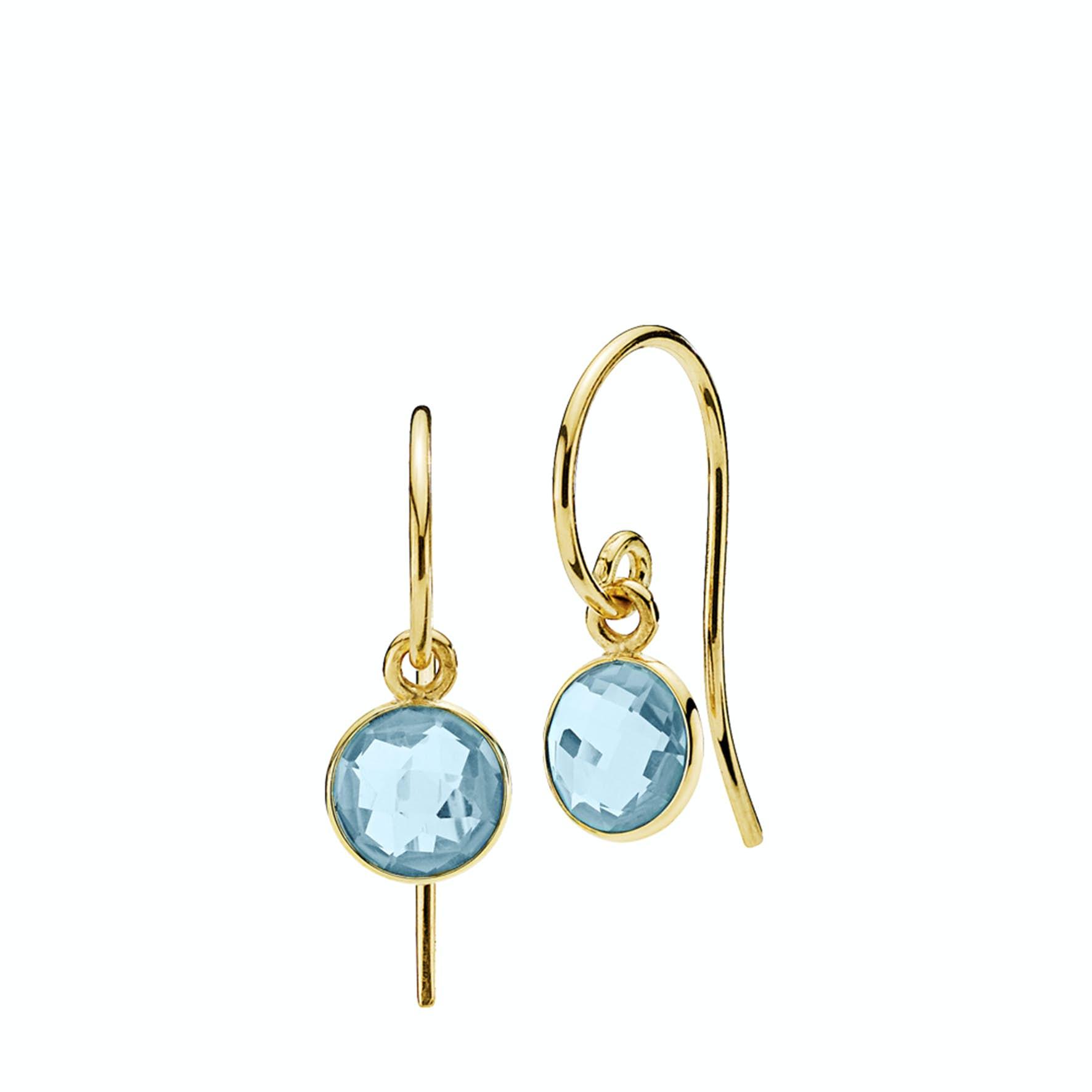 Prima Donna Earrings Small Aqua Blue von Izabel Camille in Vergoldet-Silber Sterling 925 Aqua Blue