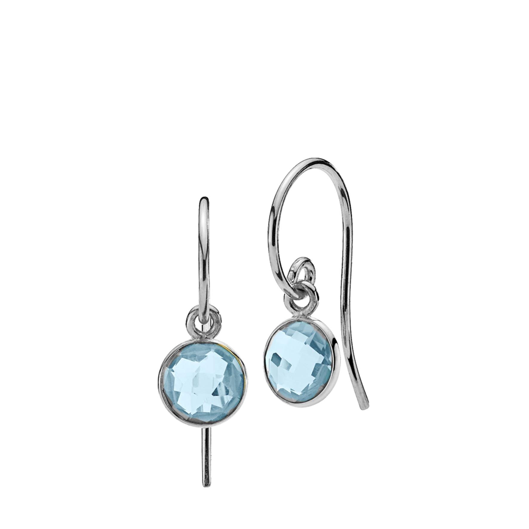 Prima Donna Earrings Small Aqua Blue von Izabel Camille in Silber Sterling 925|Aqua Blue